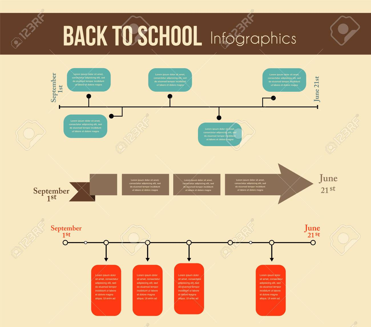 chronological stock illustrations cliparts and royalty chronological back to school infographics education year timeline