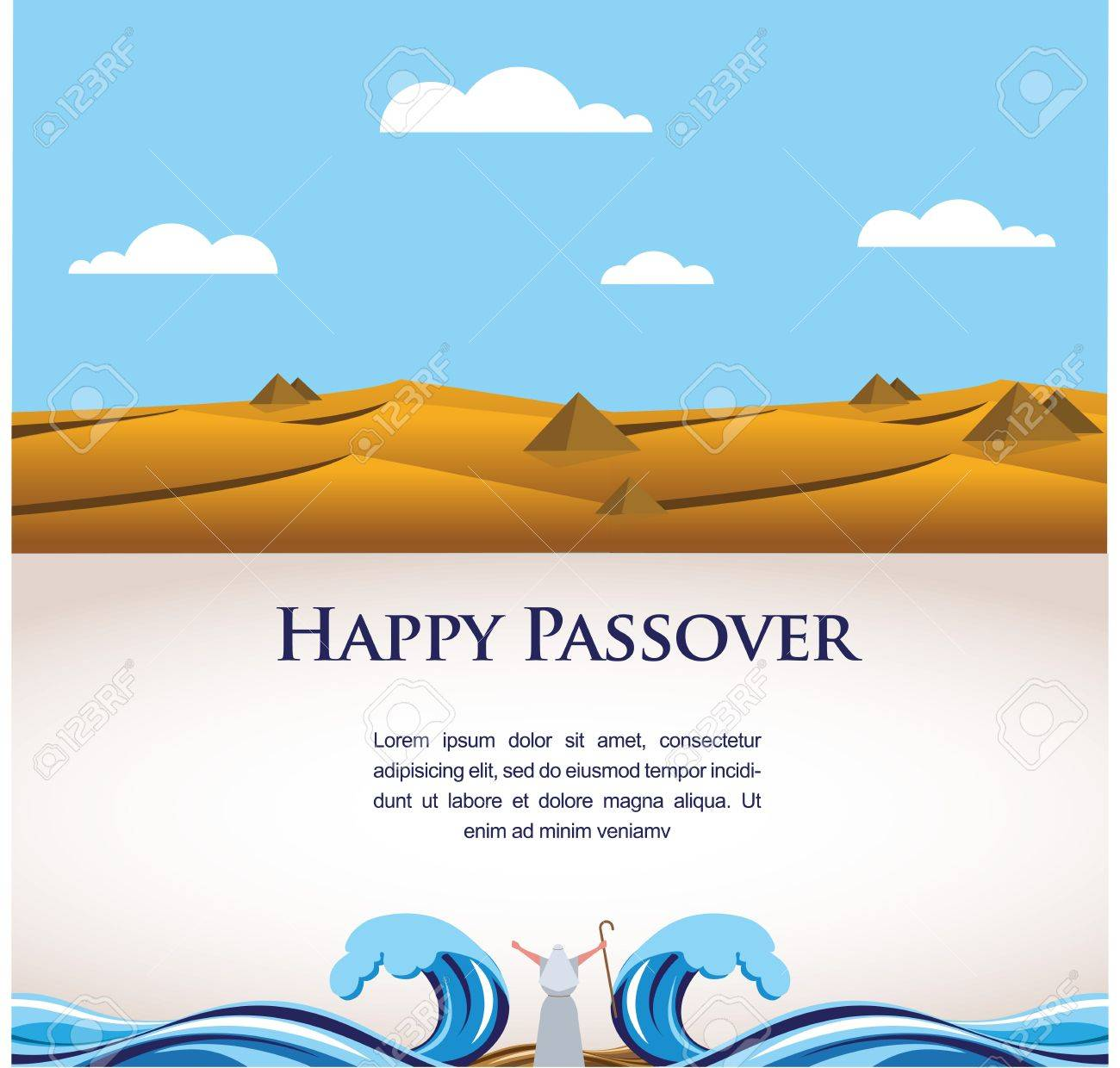 happy passover out of the jews from egypt illustration royalty
