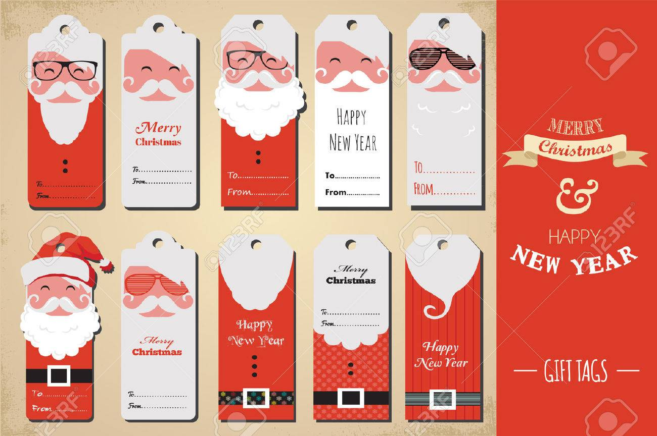 Christmas Tags.Collection Of Cute Ready To Use Christmas Gift Tags