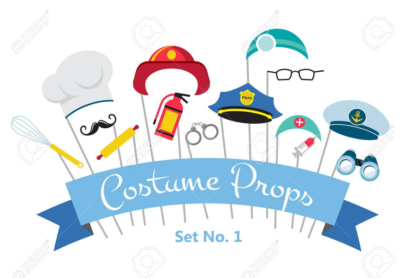 costume party and photo booth props. profession - 52987700