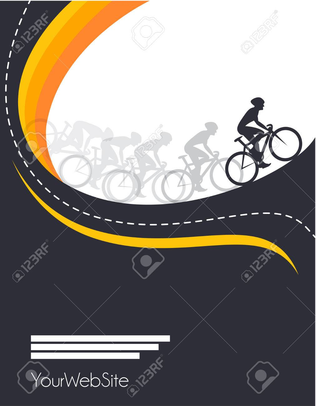 Vector bicycle race event poster design template - 56597493