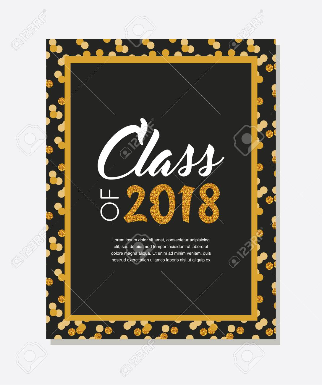 graduation class of 2018 greeting card and invitation template vector party invitation grad poster