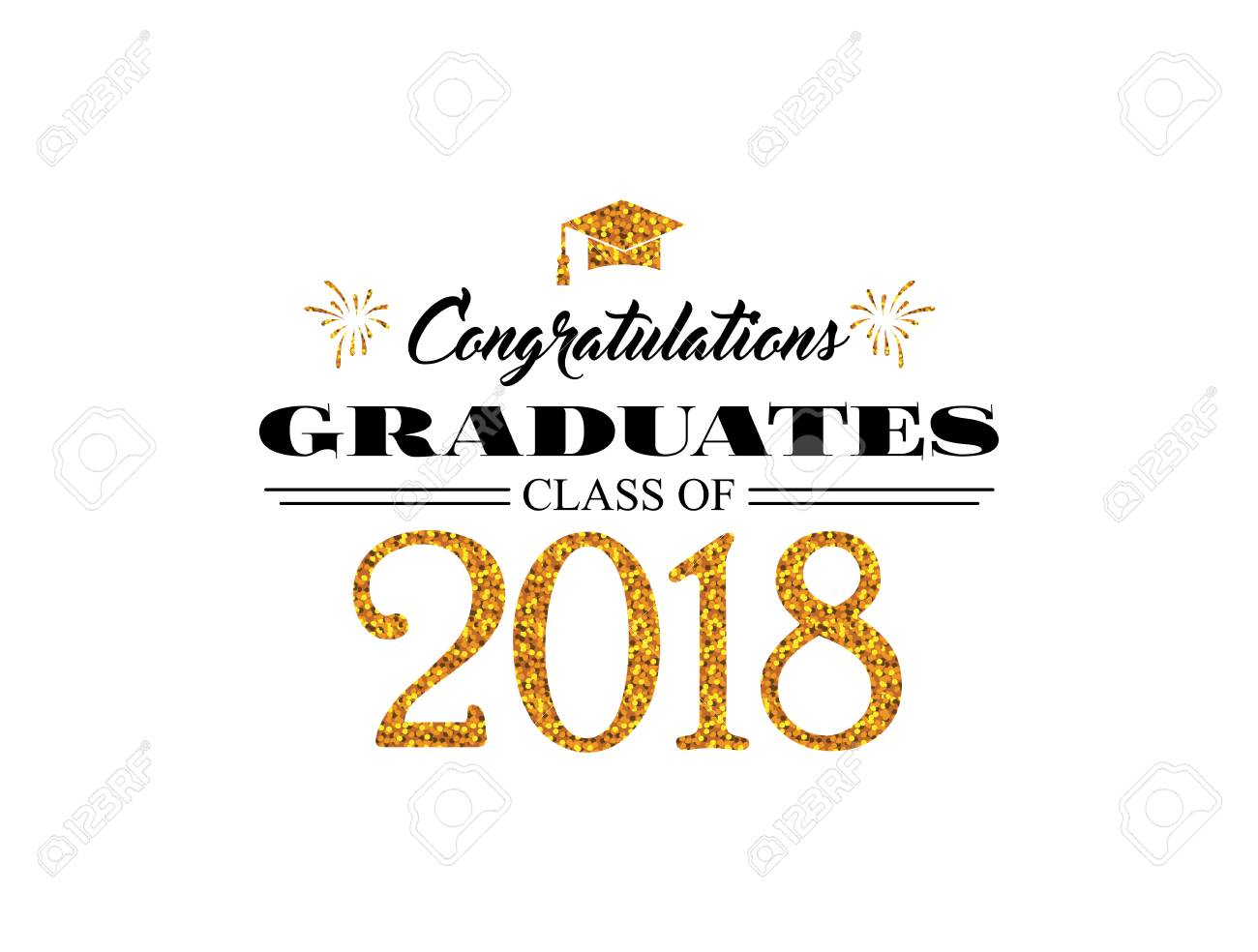 Graduation Wishes Overlays Lettering Labels Design Template For T Shirt