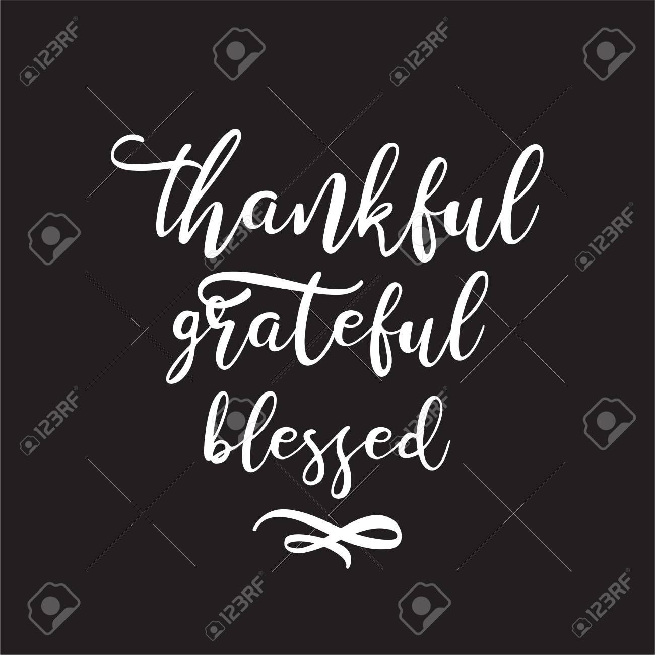 vector hand drawn motivational and inspirational quote thankful