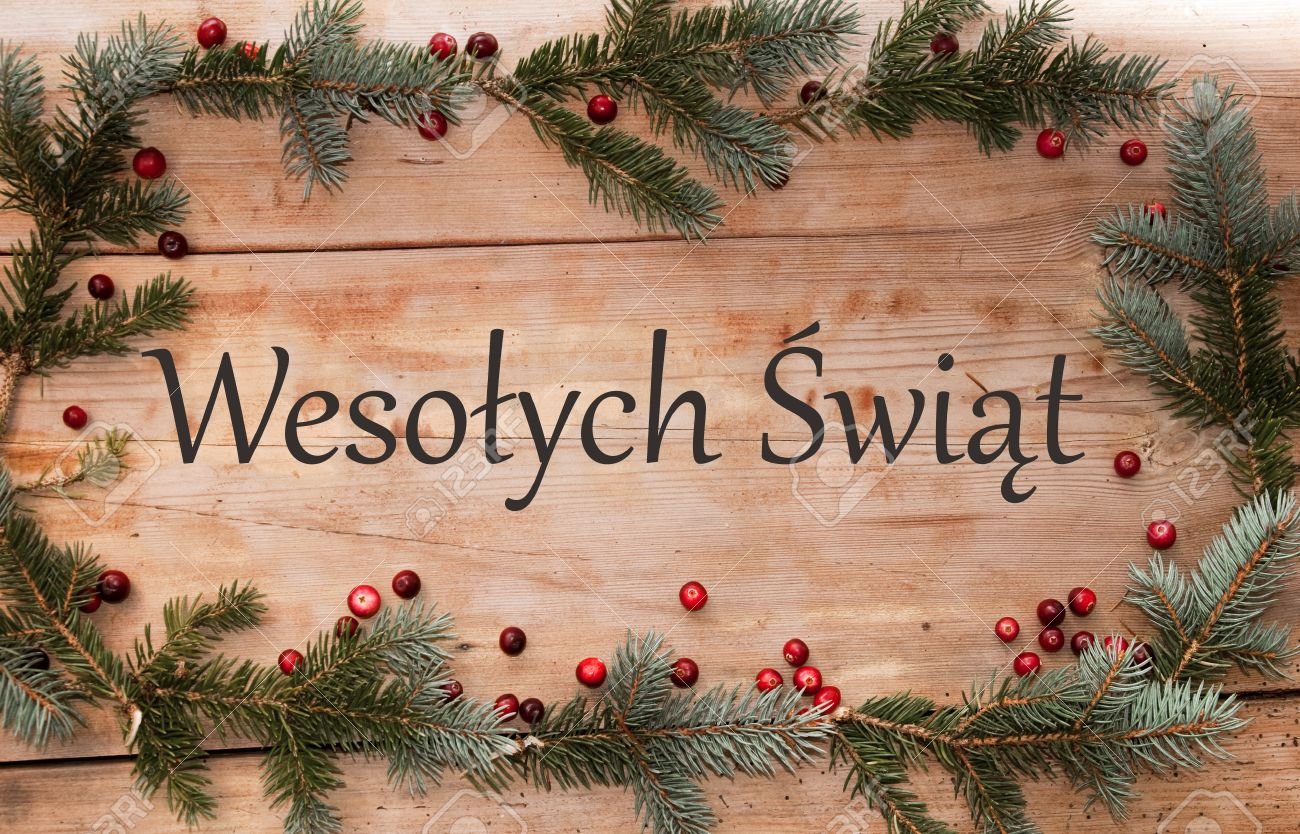 Merry christmas eco greetings in polish wesoych wit stock photo merry christmas eco greetings in polish wesoych wit stock photo m4hsunfo