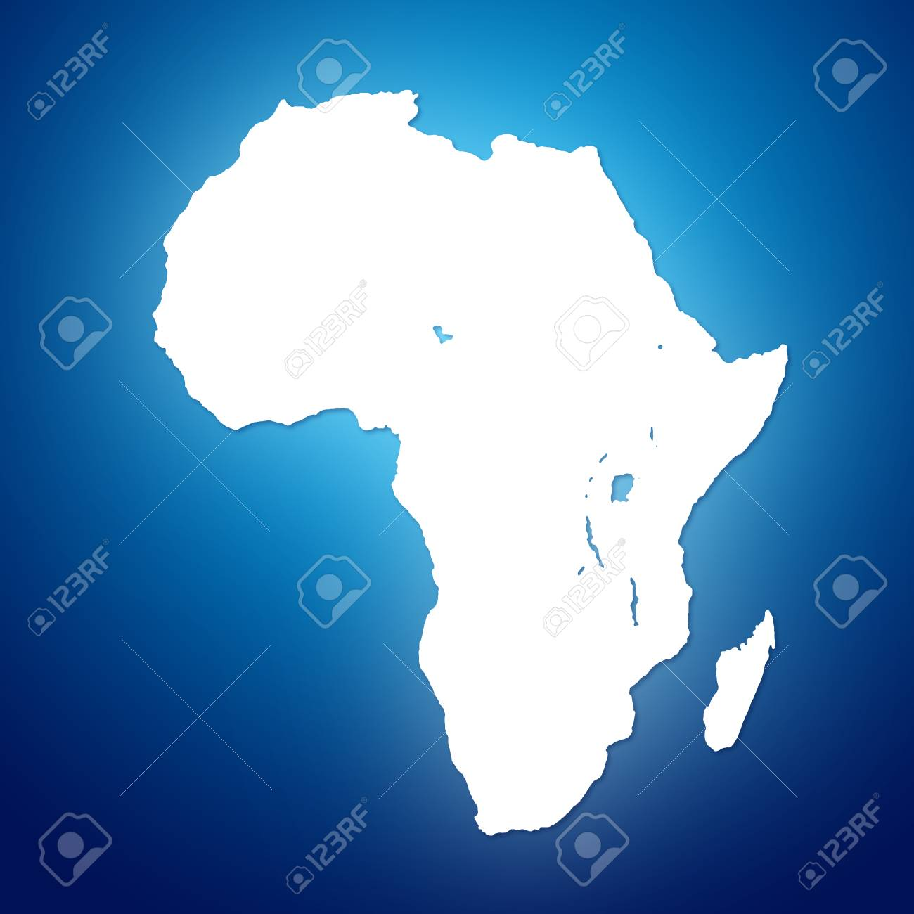 Image Of Modern Africa Map Illustration Stock Photo, Picture And ...