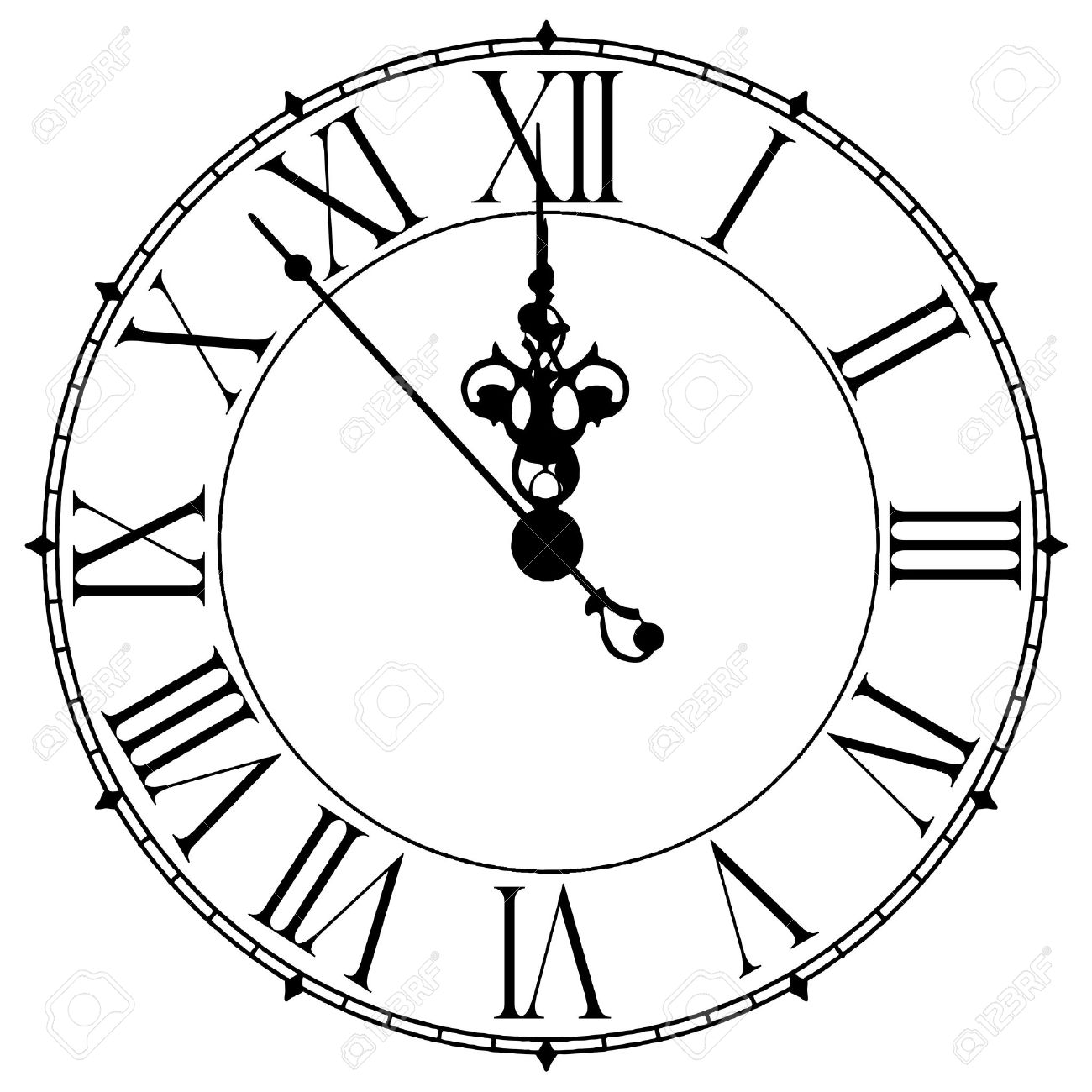 Image of old antique wall clock 7 seconds to midnight or noon stock image of old antique wall clock 7 seconds to midnight or noon stock photo 33962272 ccuart Choice Image