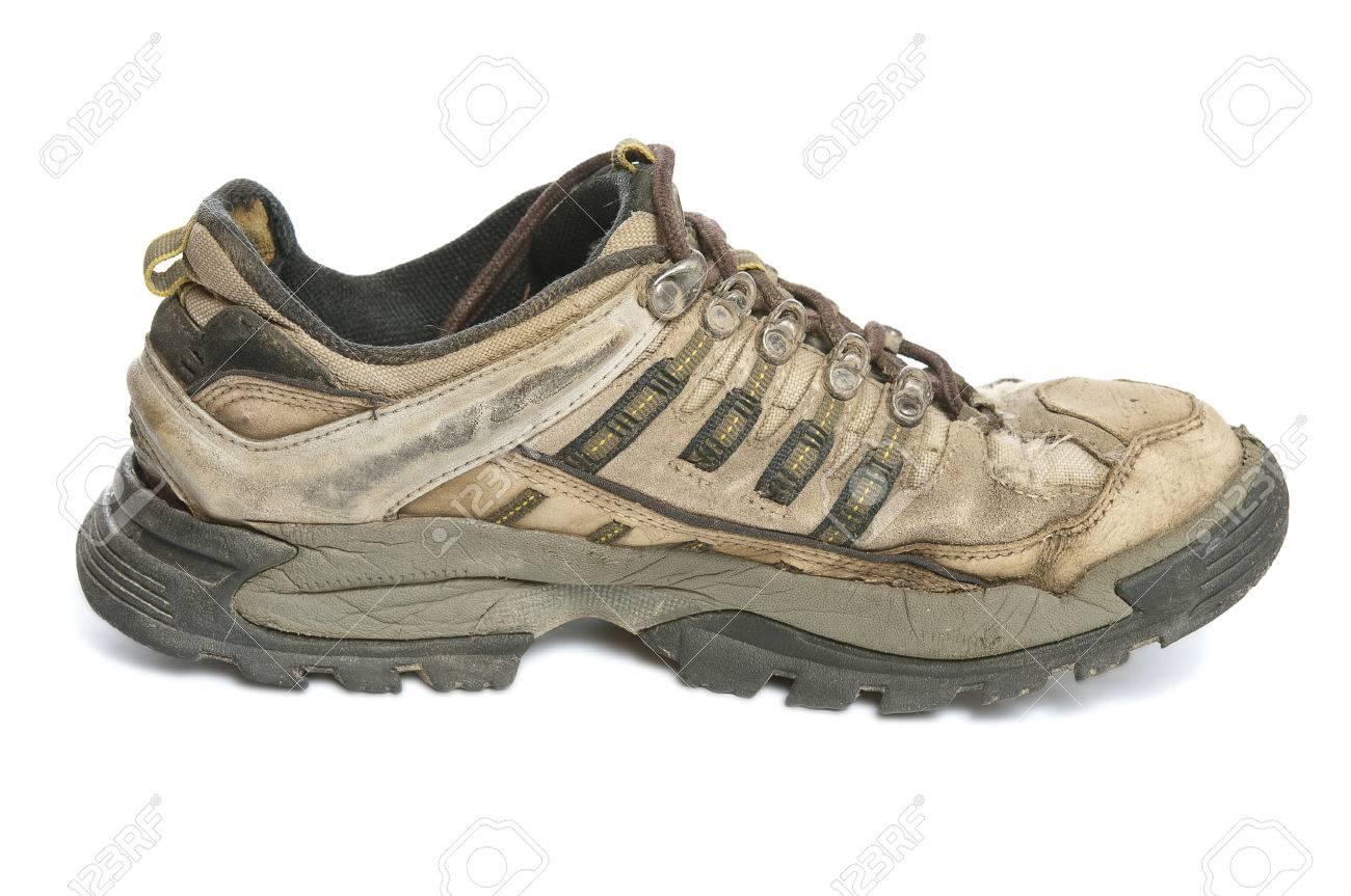 Single Old Sport Shoe On White