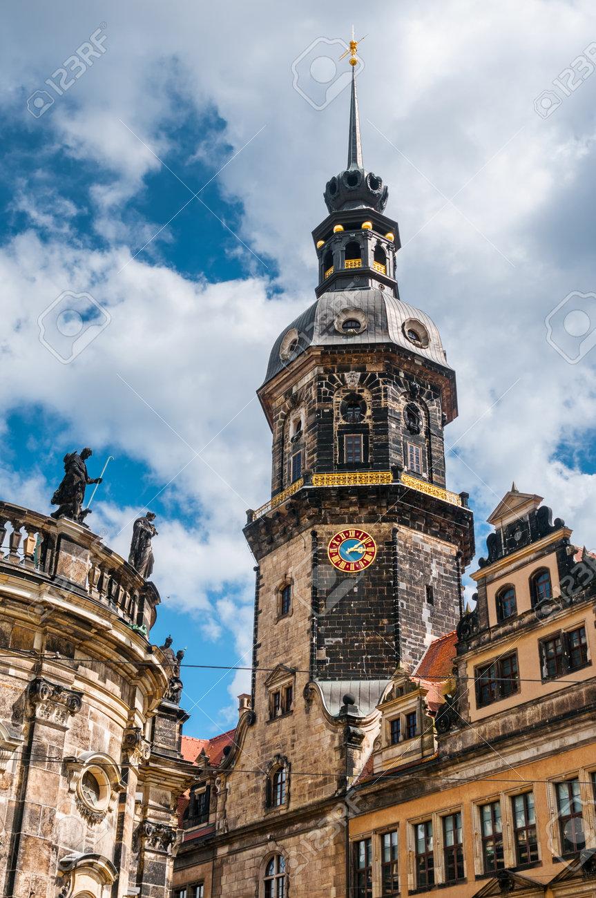 ドレスデン, ドイツ,2016 年 6 月 20 日 ドレスデン城 (緑の丸天井) 旧市街