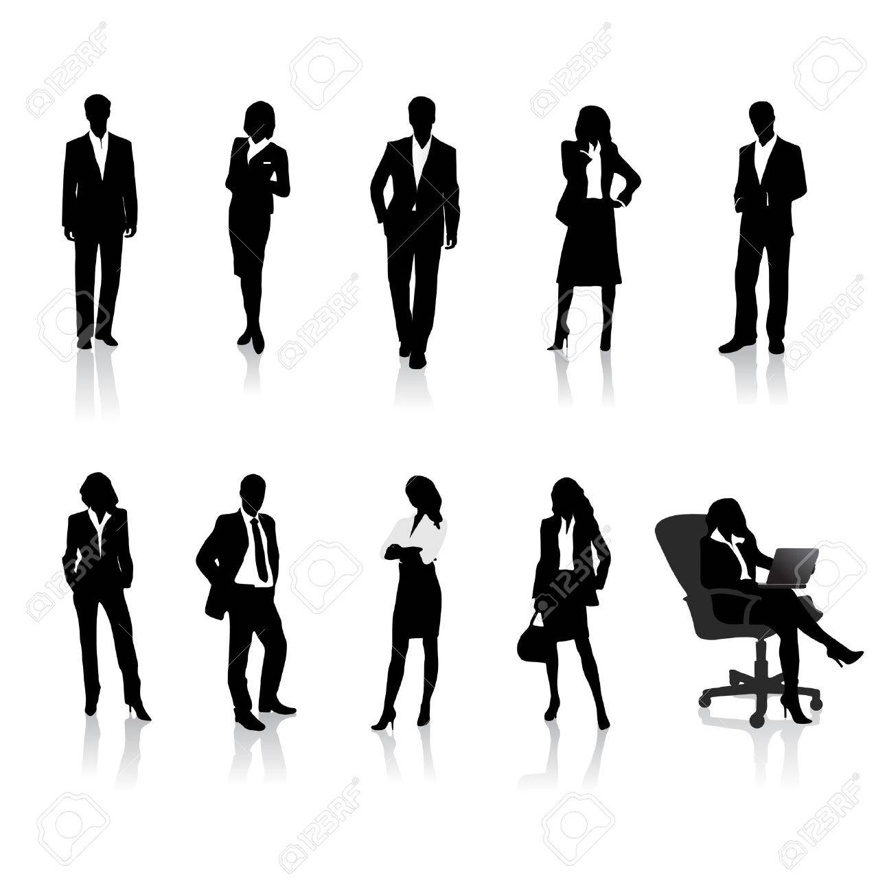 business people silhouettes - 35817390