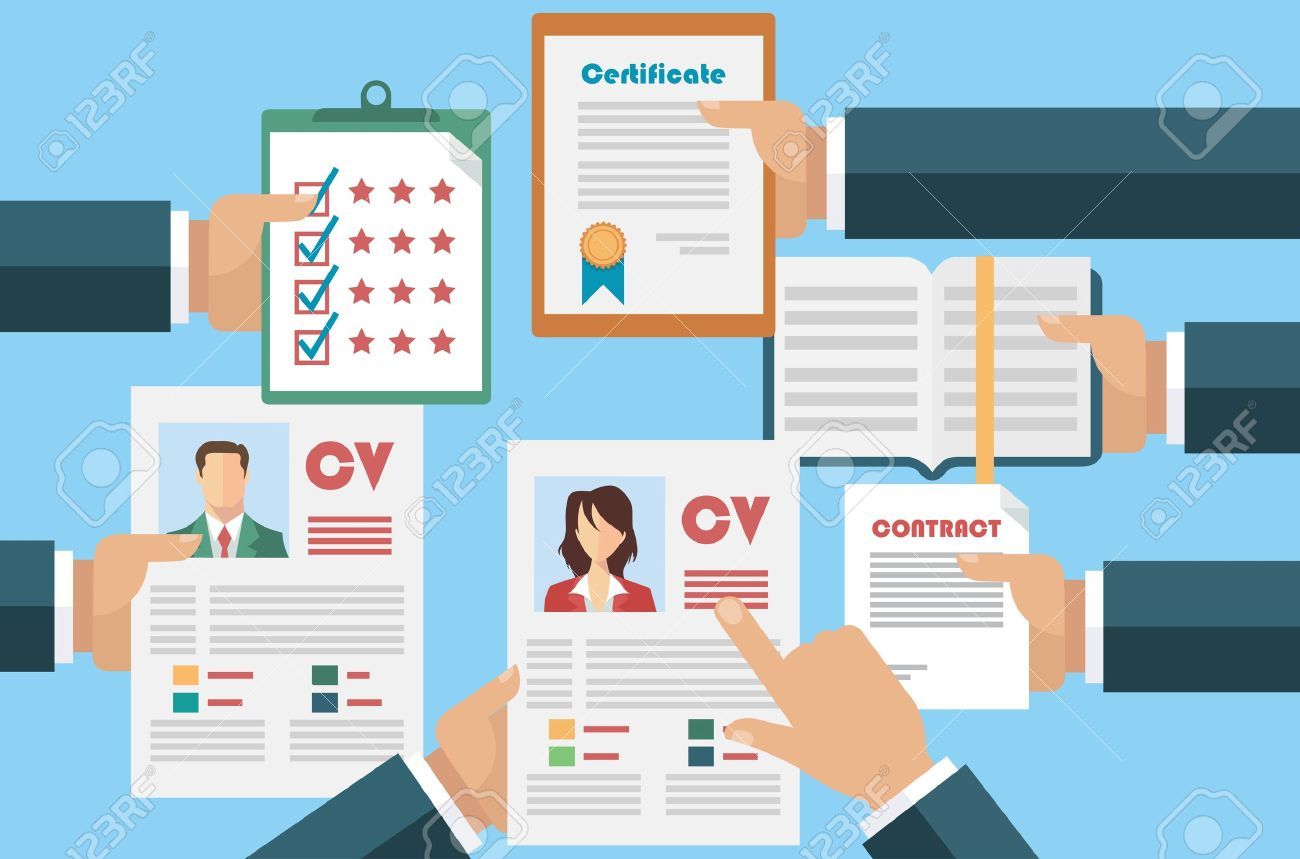 Job interview concept with business cv resume - 38654783