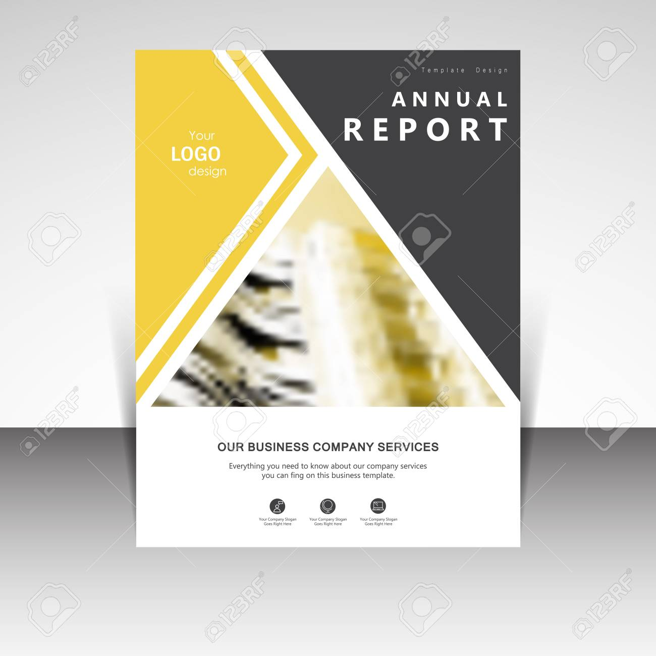 business annual report brochure design vector illustration business