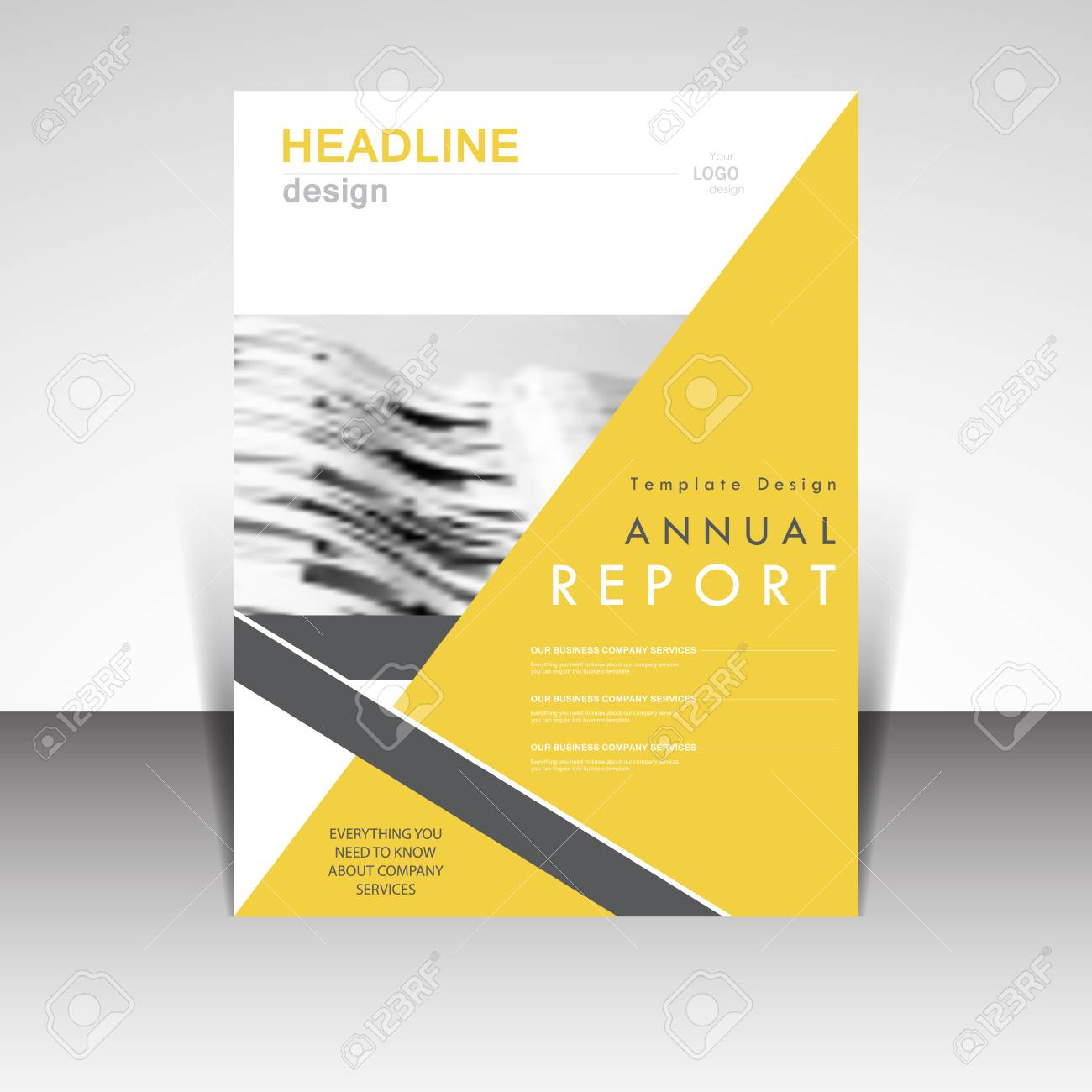 business template annual report brochure design vector illustration