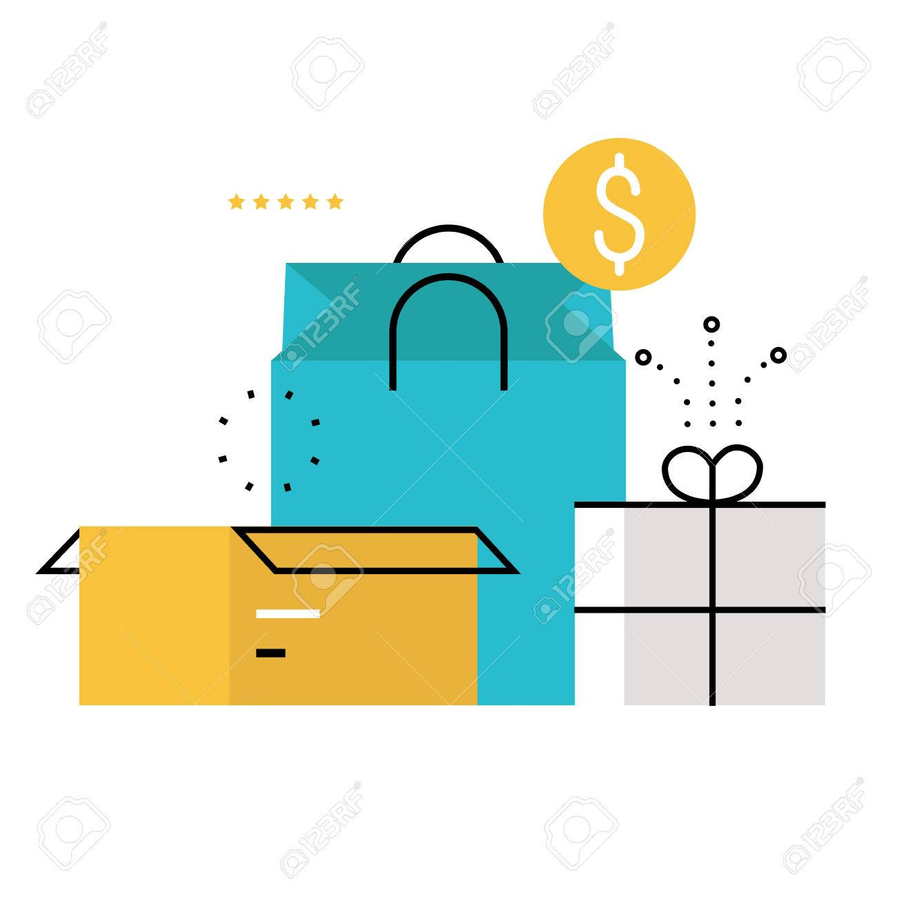 E-commerce, E-shopping, Online Purchase And Delivery Process ...