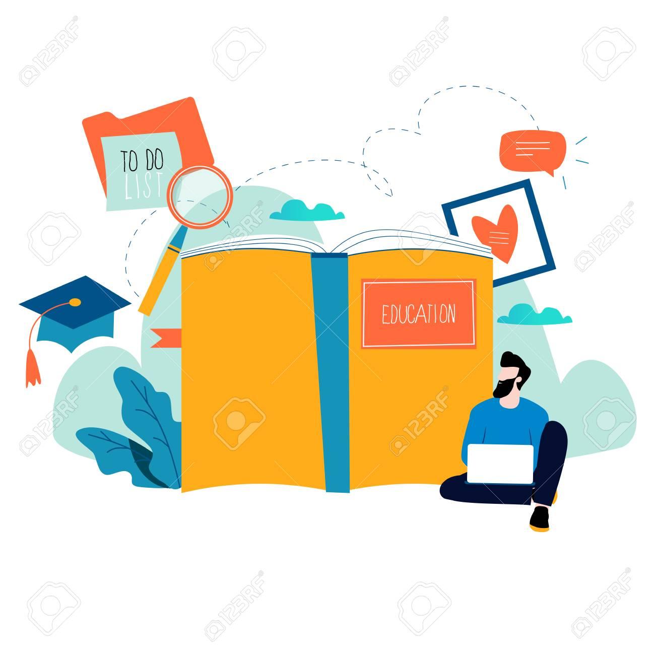 education online training courses distance education flat vector rh 123rf com free online graphics designing free online graphics designing