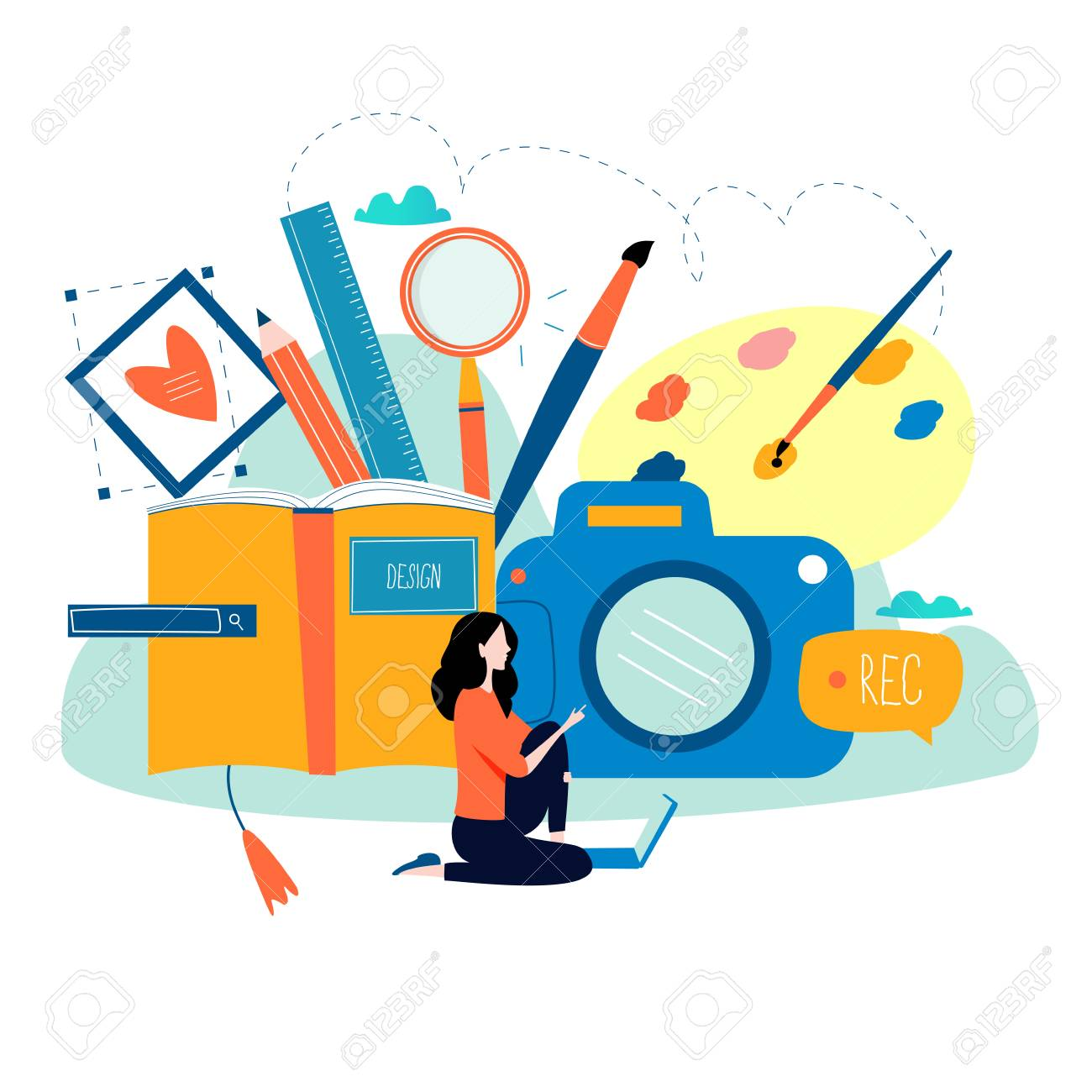 design studio designing drawing photographing graphic design rh 123rf com free online graphics design free online graphics course