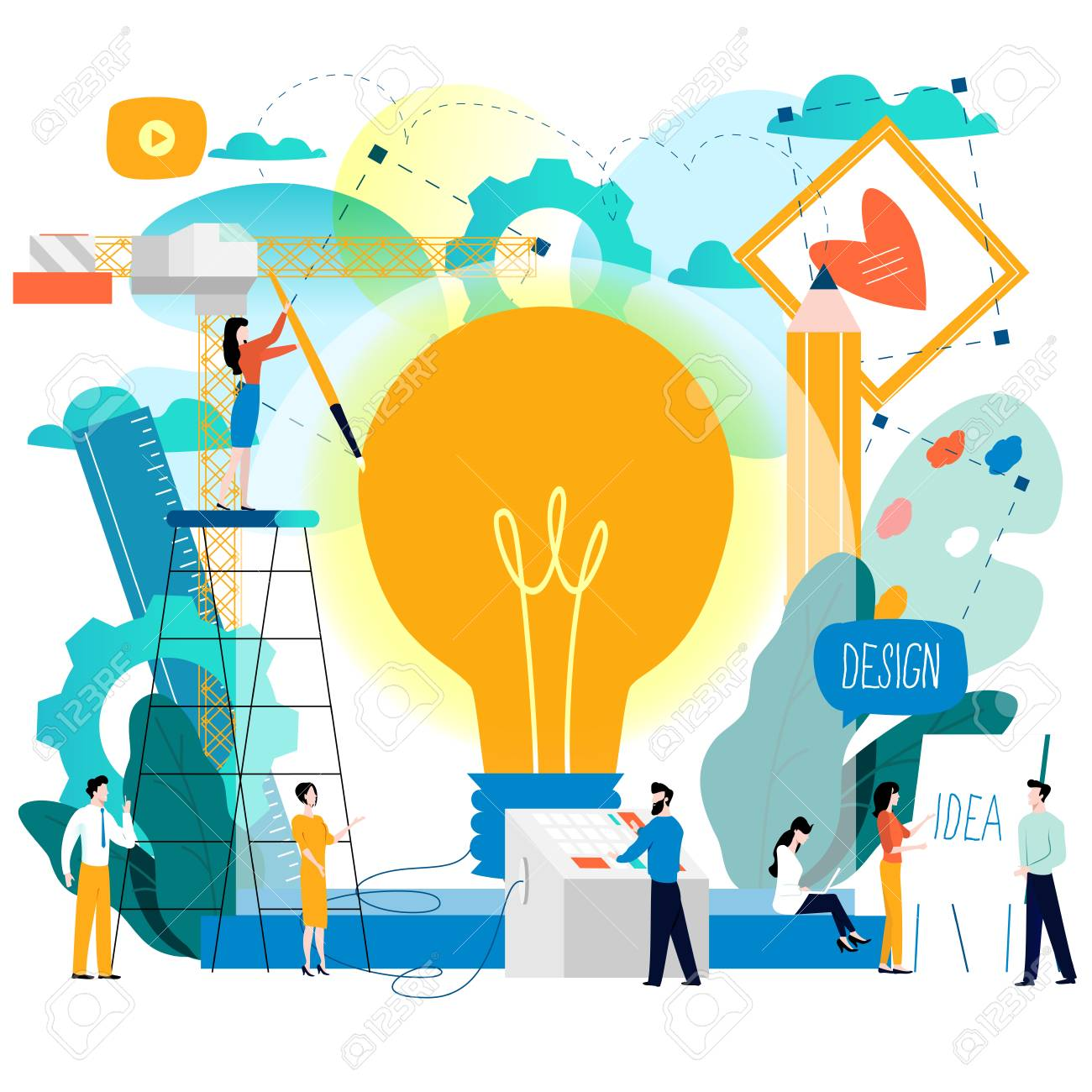 Creative Ideas Graphic Design Illustration Stock Vector