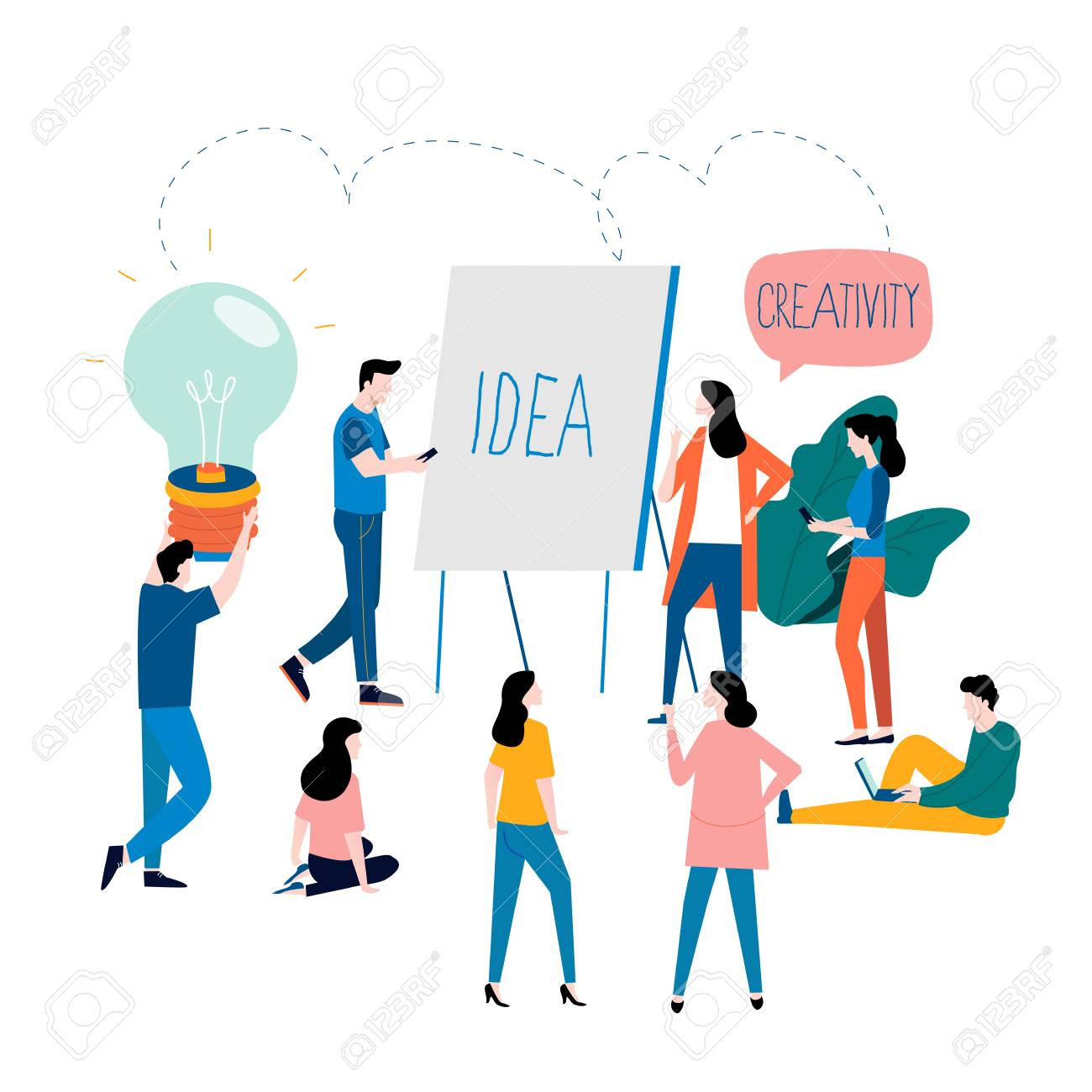 Professional training, education, online tutorial, online business courses, business presentation flat vector illustration. Expertise, skill development design for mobile and web graphics - 107313658