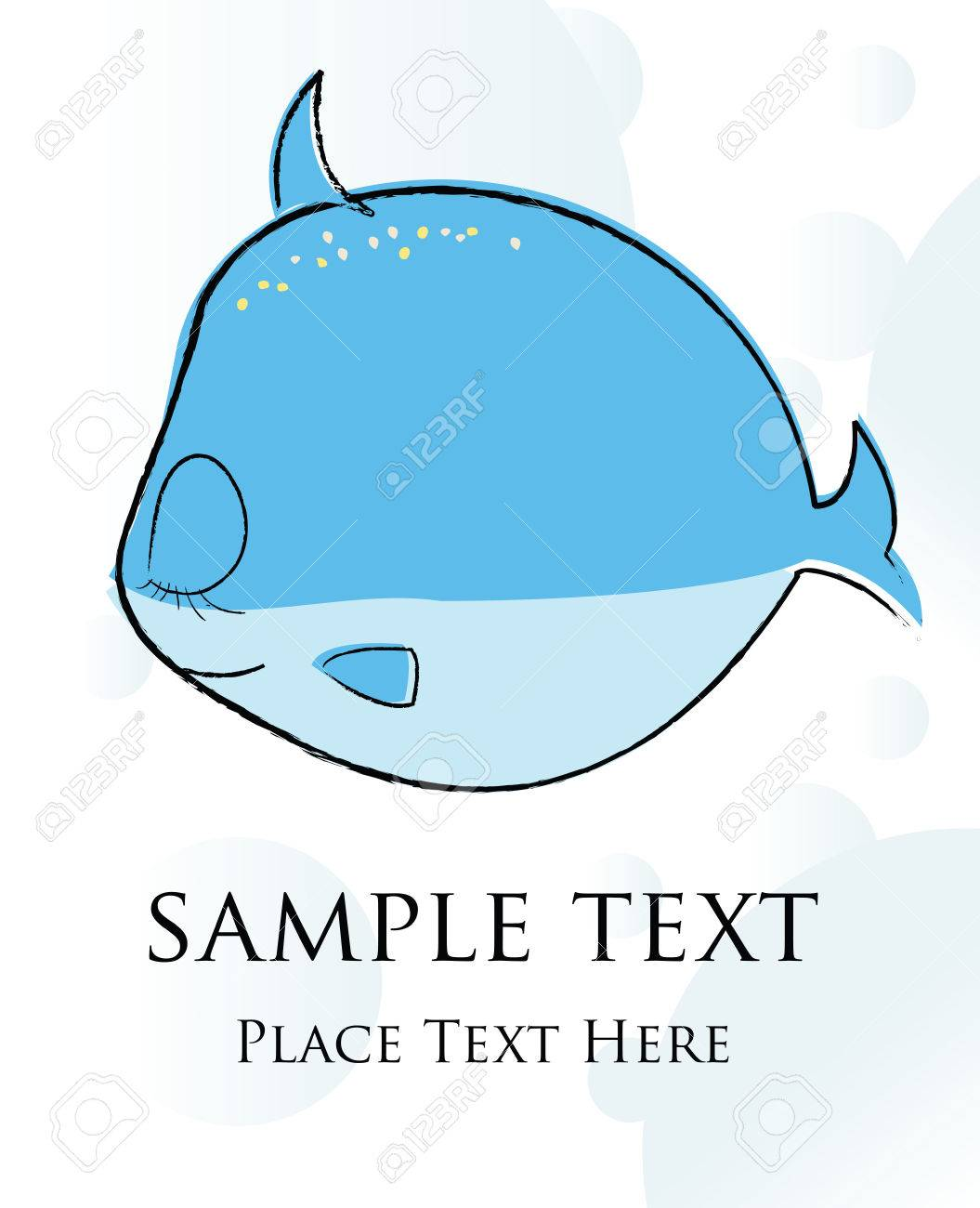Fish card Stock Vector - 5514157