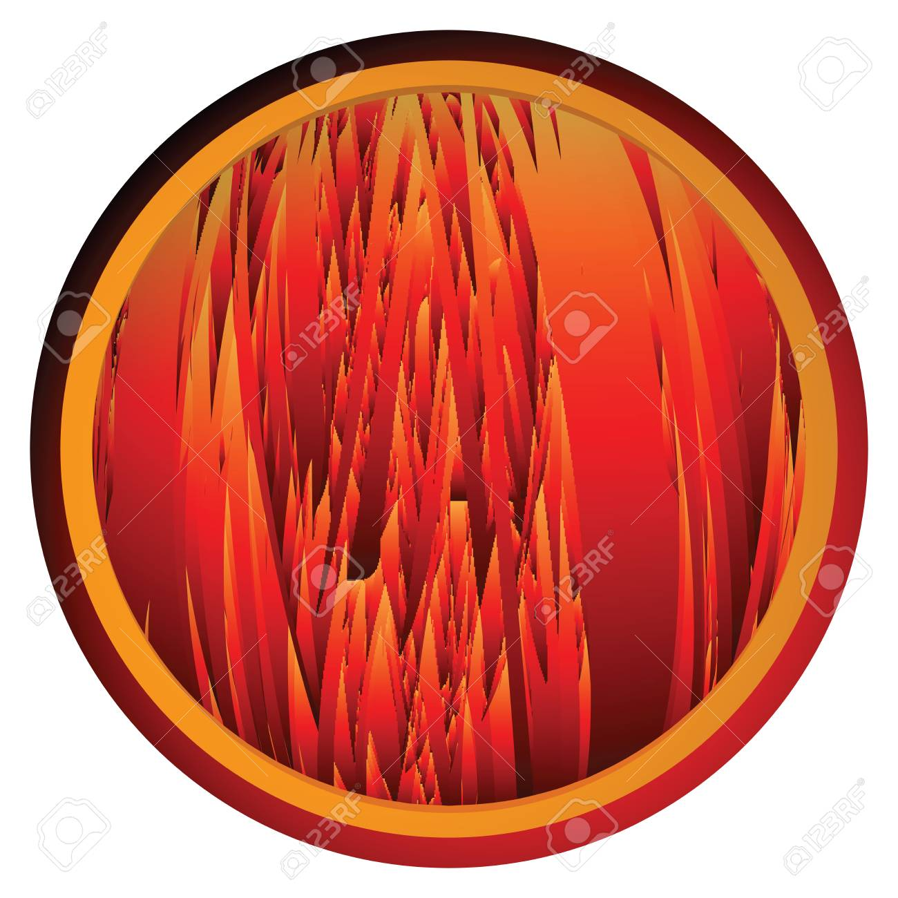 Conceptual web button with flames background Stock Vector - 6135061