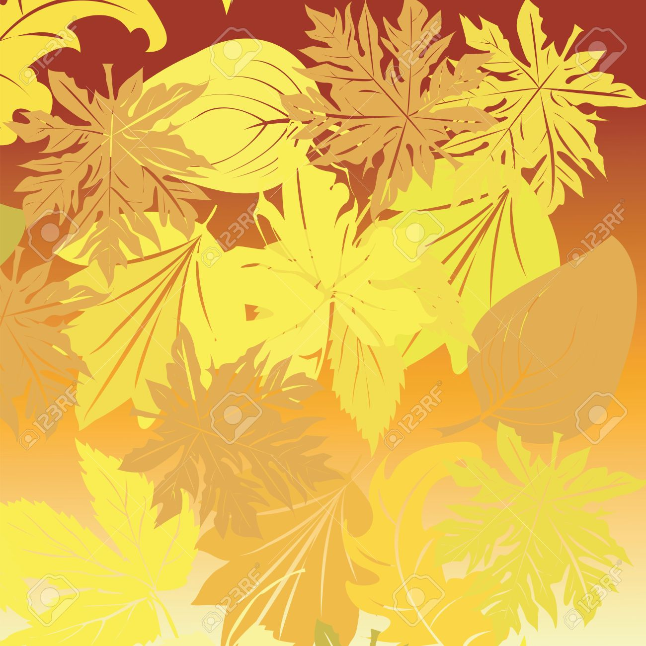 Falling leaves background, art Stock Photo - 6195849