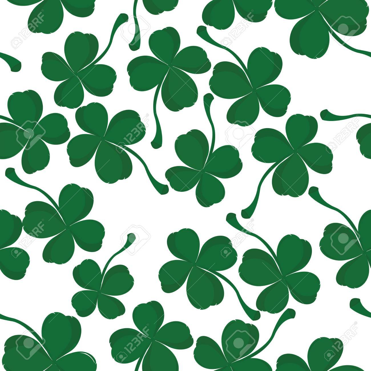 Four leaves clover pattern, background for Saint Patrick Day Stock Photo - 6196894