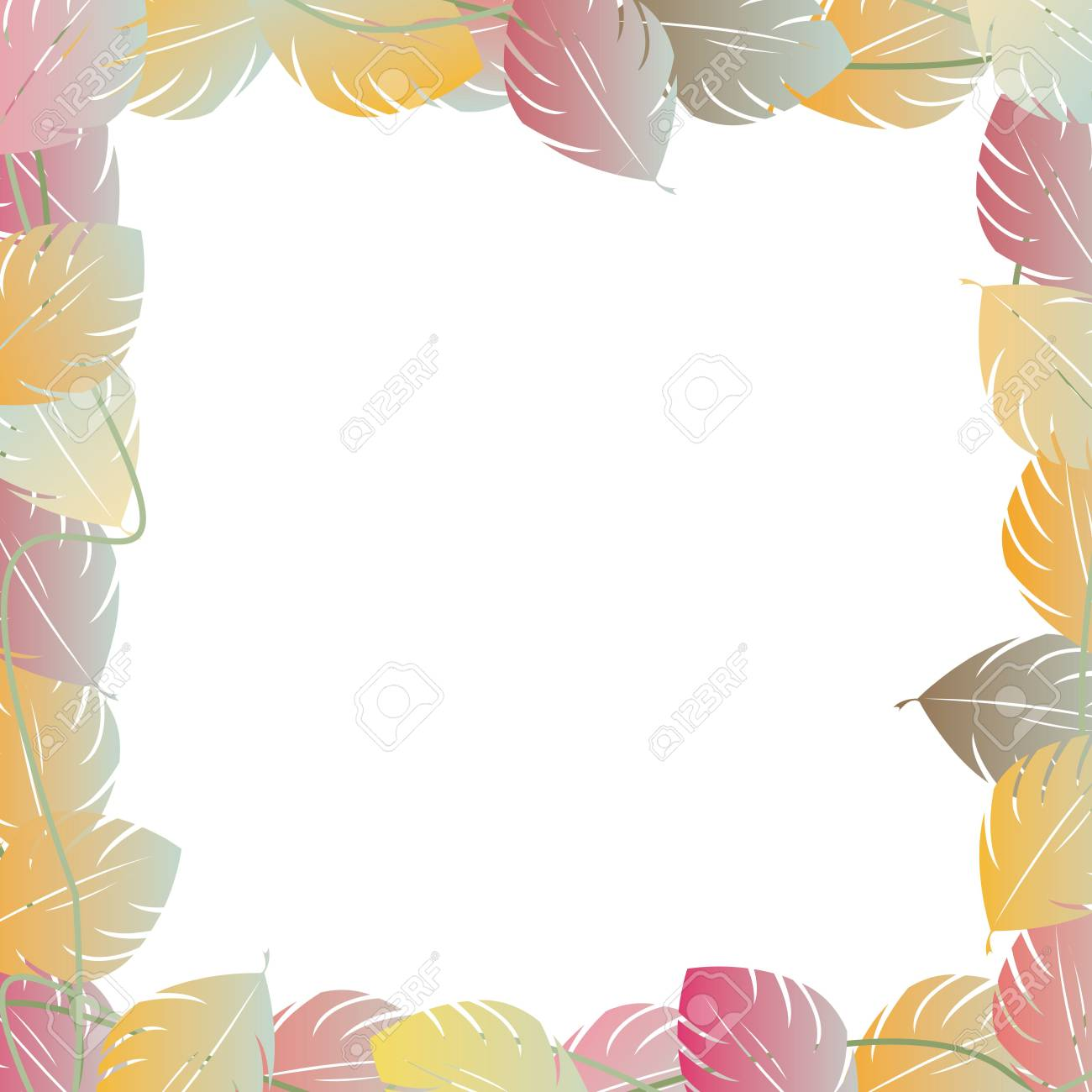 Autumn leaves frame or sample text Stock Photo - 6196376