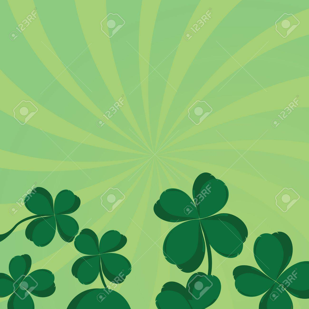 Four leaf clover composition with room for your text Stock Vector - 6247896