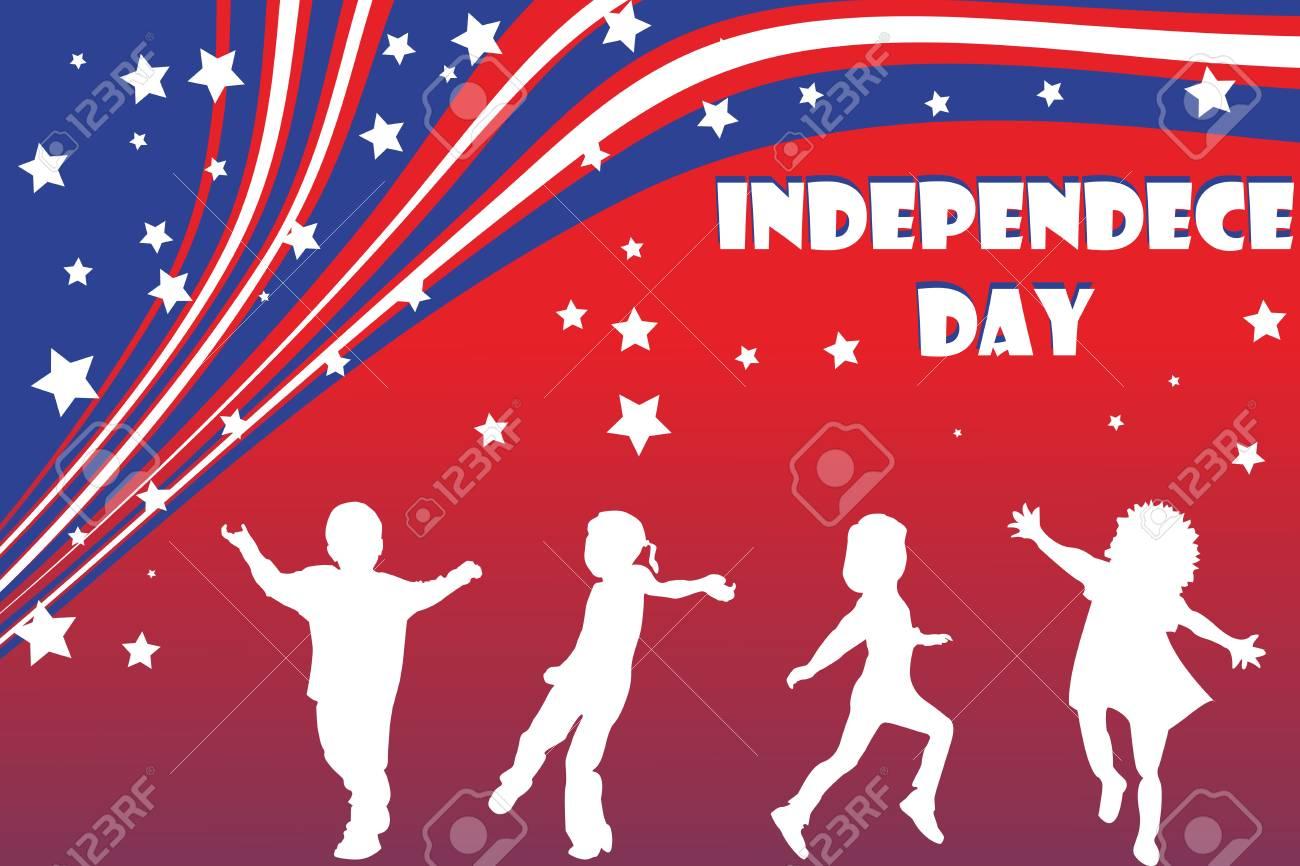 background illustration for Independence day Stock Illustration - 7336211