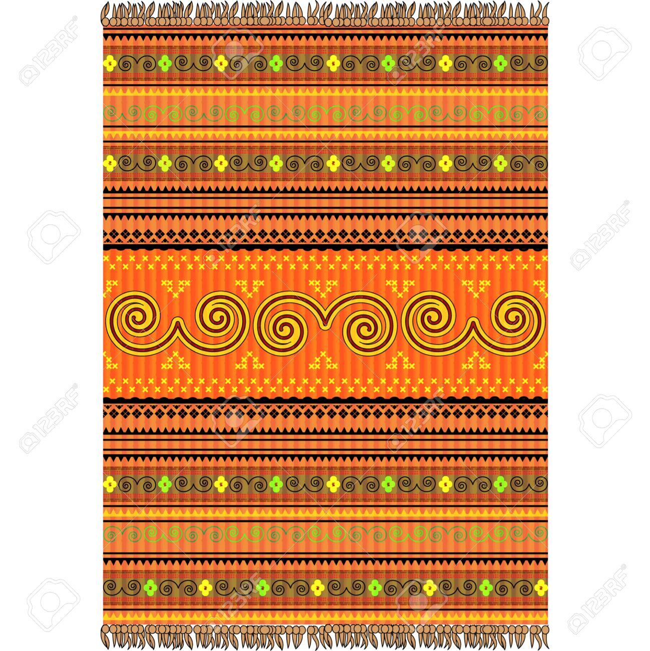 Teppich design textur  Teppich-Design In Warmen Tönen, Ornamentale Textur Lizenzfrei ...