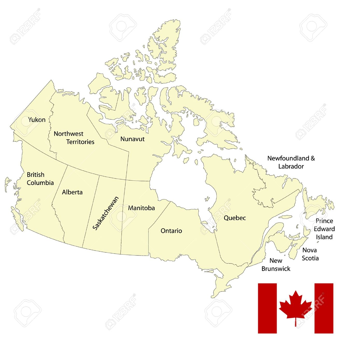 detailed map of canada