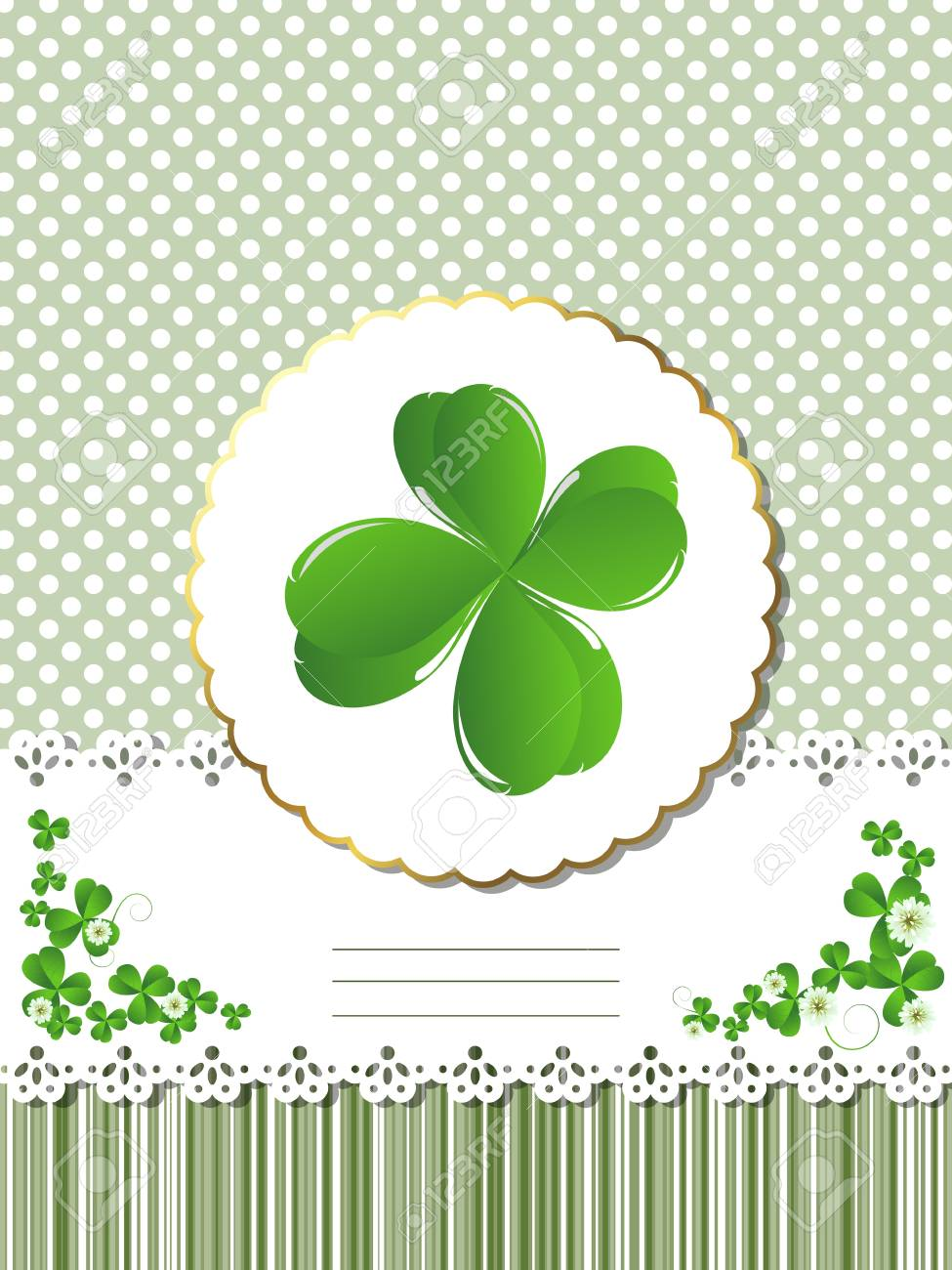 Decorative card  for St.Patrick Stock Vector - 10859239