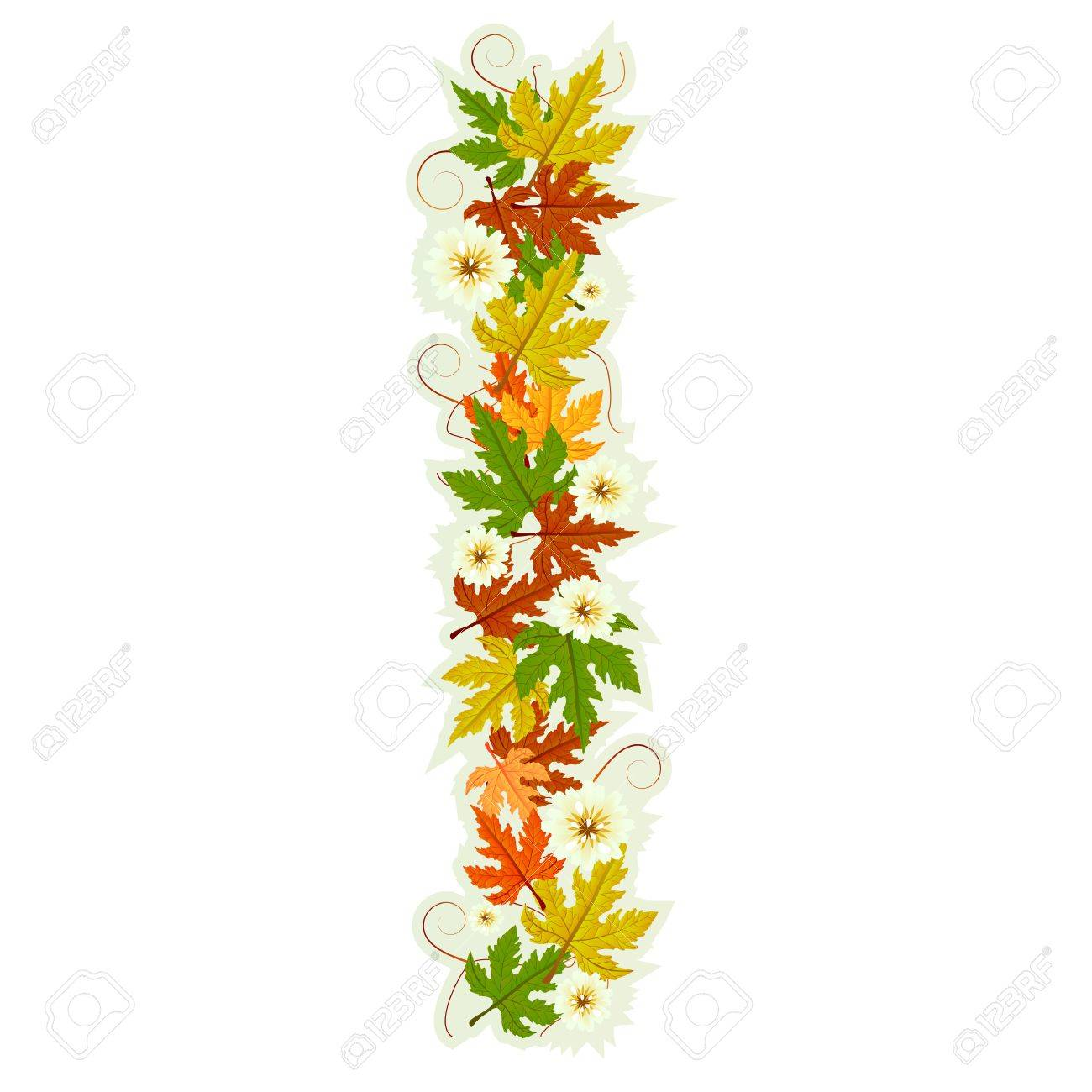 Pattern letter made from flowers and leaves Stock Vector - 10922467