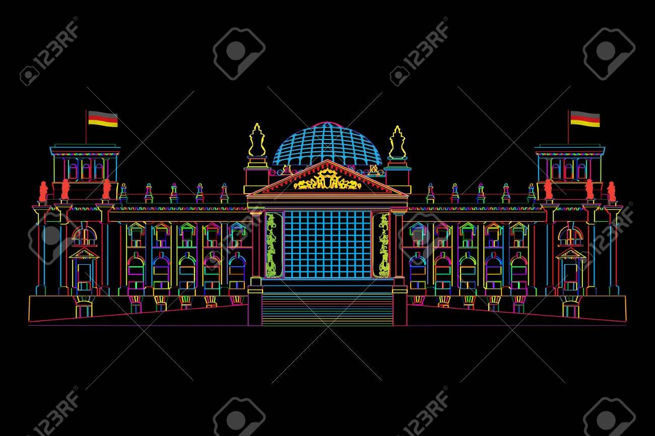Stylized illustration of Berlin's parliament, Reichstag. Stock Vector - 14629687