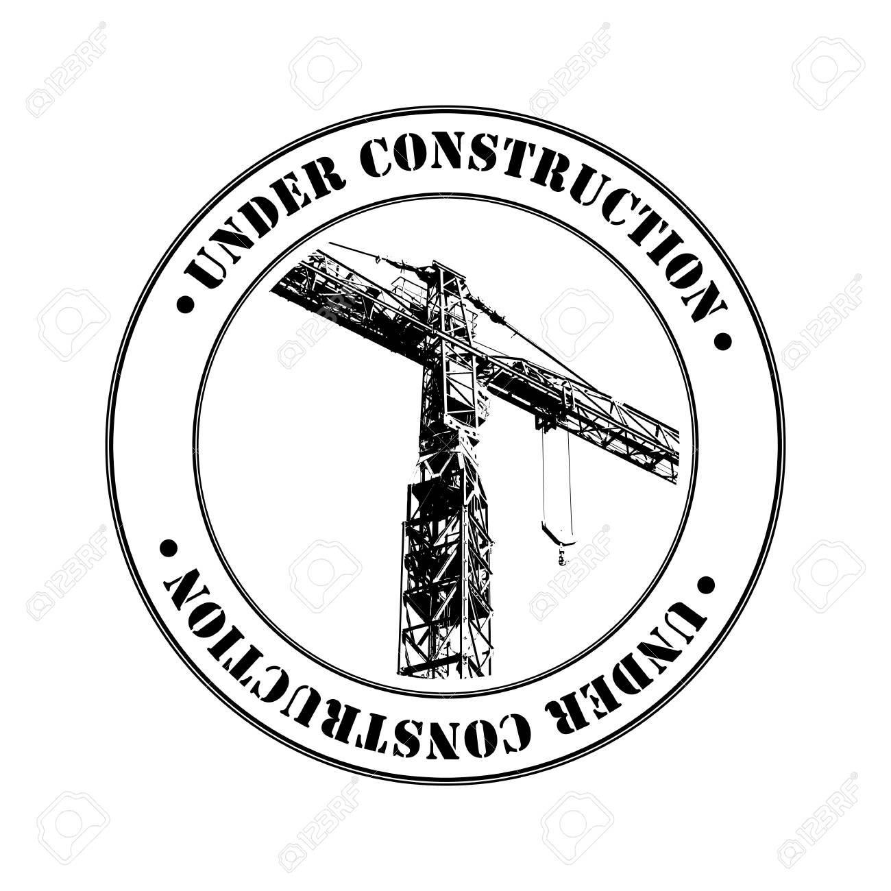 Rubber stamp with crane shape and  text  over white Stock Photo - 16530237