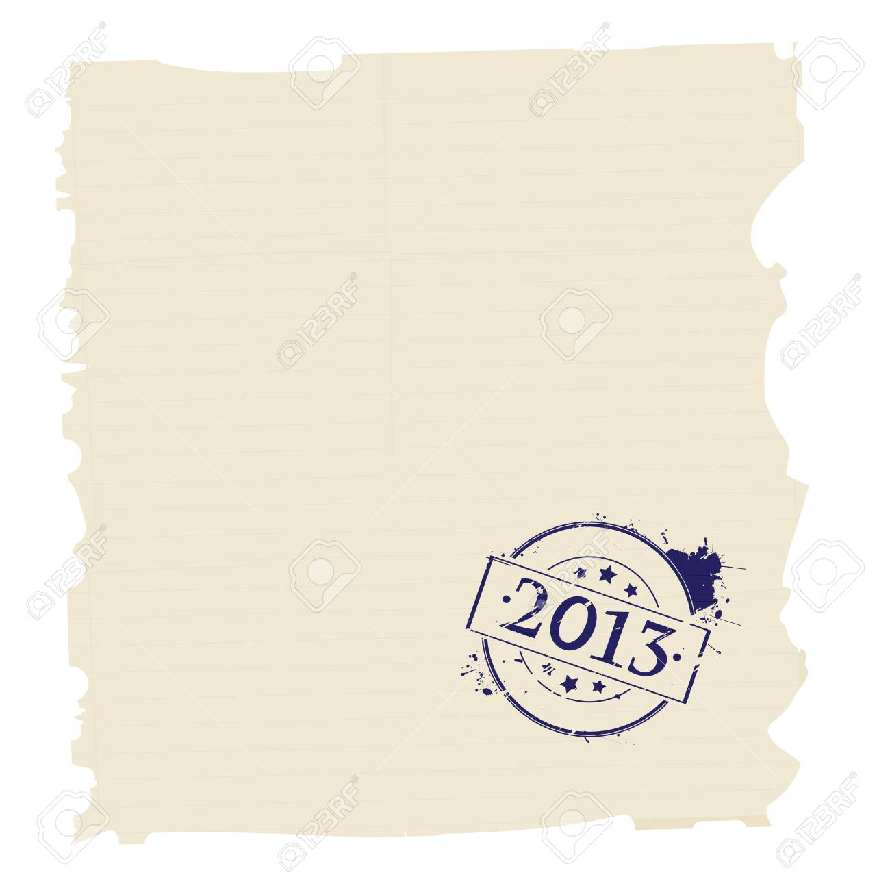 Grunge paper stamped with year 2013 sign Stock Vector - 16900640