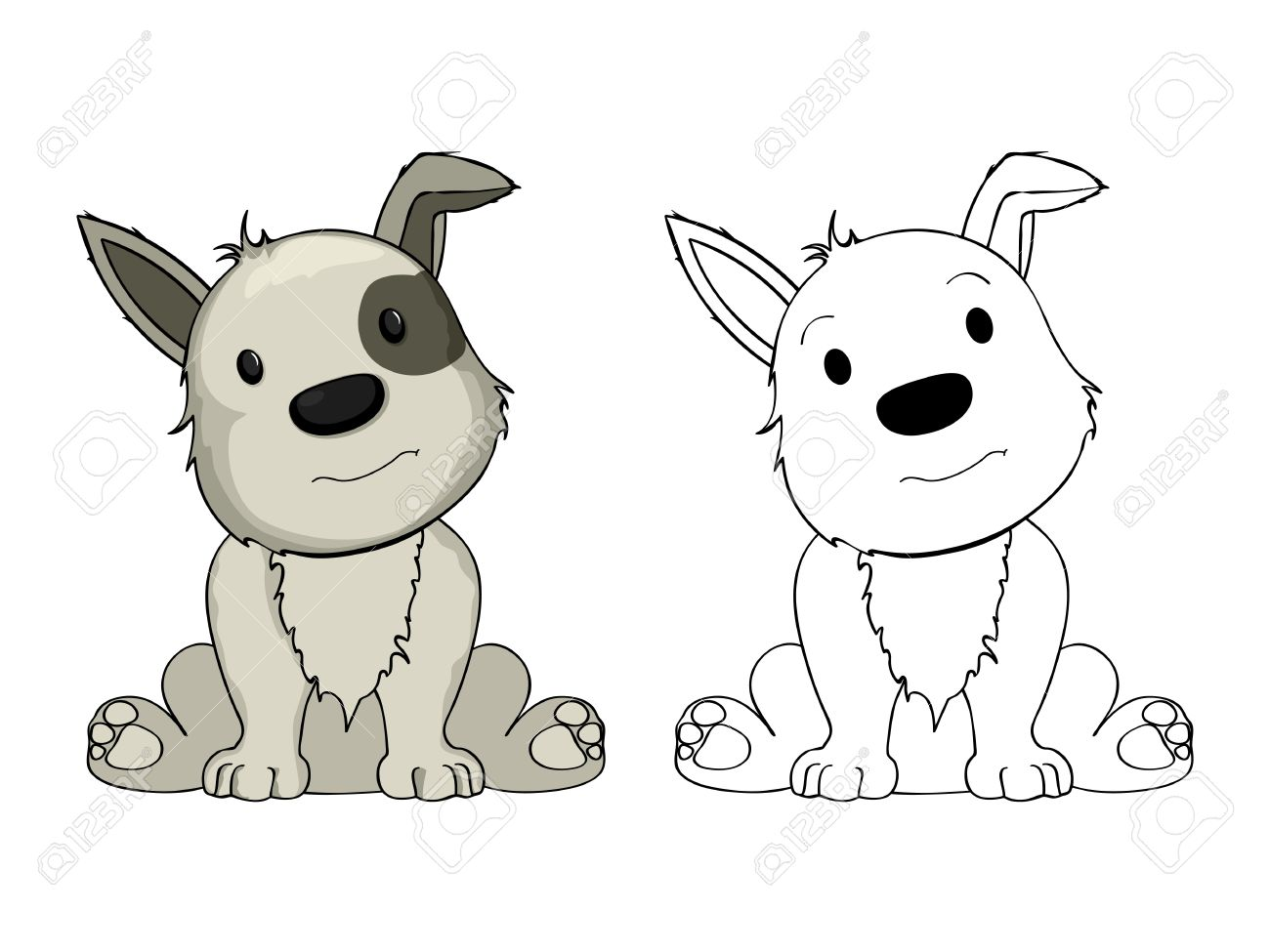 puppy drawing. Cartoon puppy drawing on white background Stock Vector  20329668 Puppy Drawing On White Background Royalty Free Cliparts