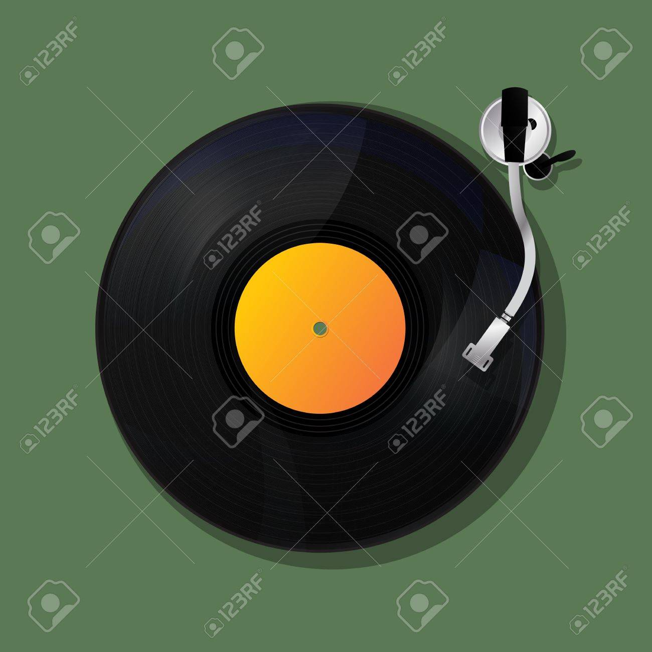 Turntable background, music icon design Stock Vector - 21775456