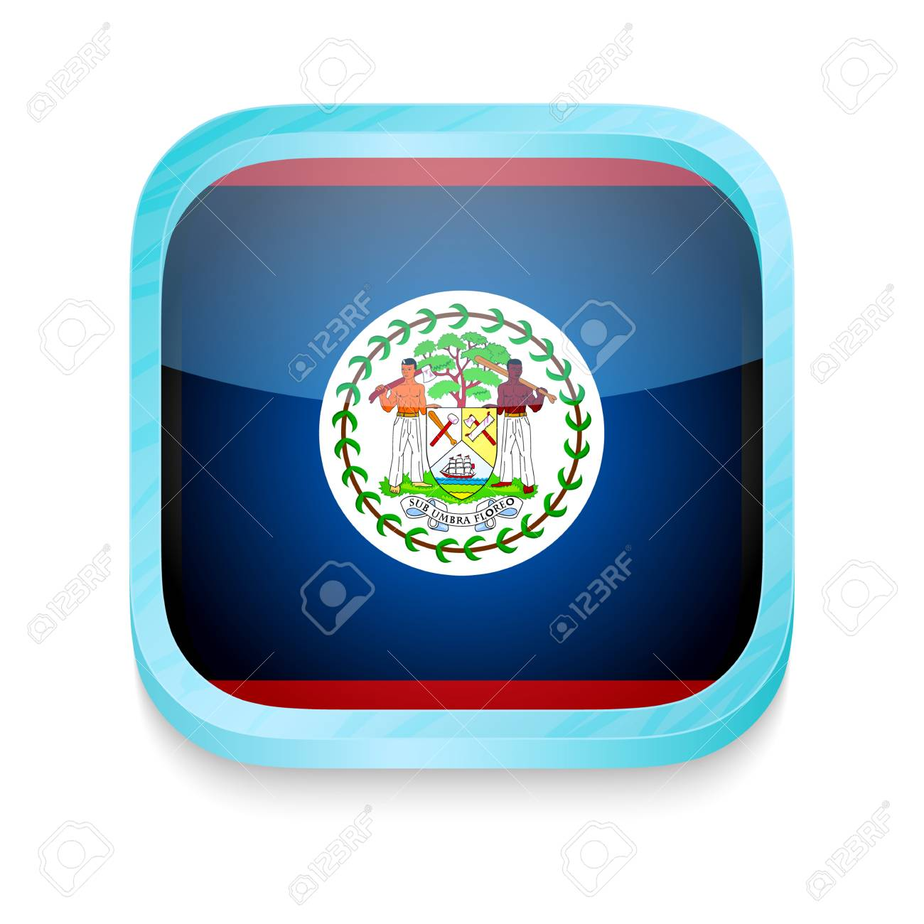 Smart phone button with Belize flag Stock Vector - 22198112