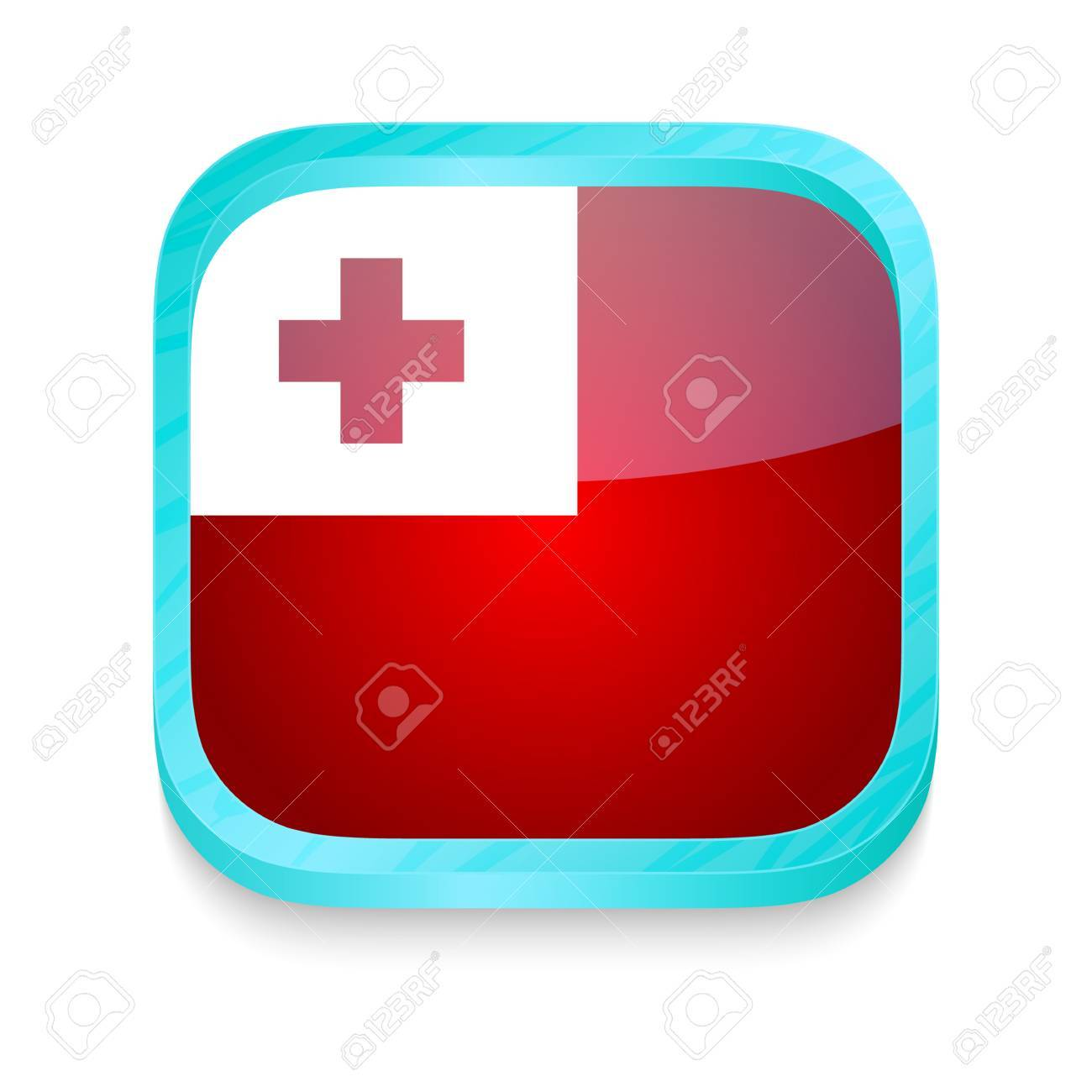 Smart phone button with Tonga flag Stock Vector - 22198413