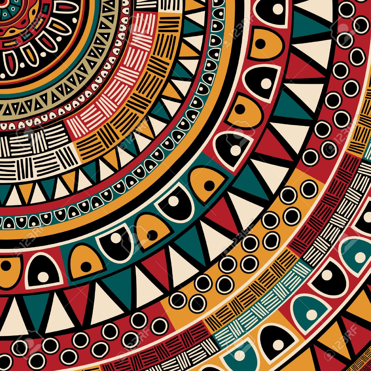 tribal ethnic background abstract art royalty free cliparts