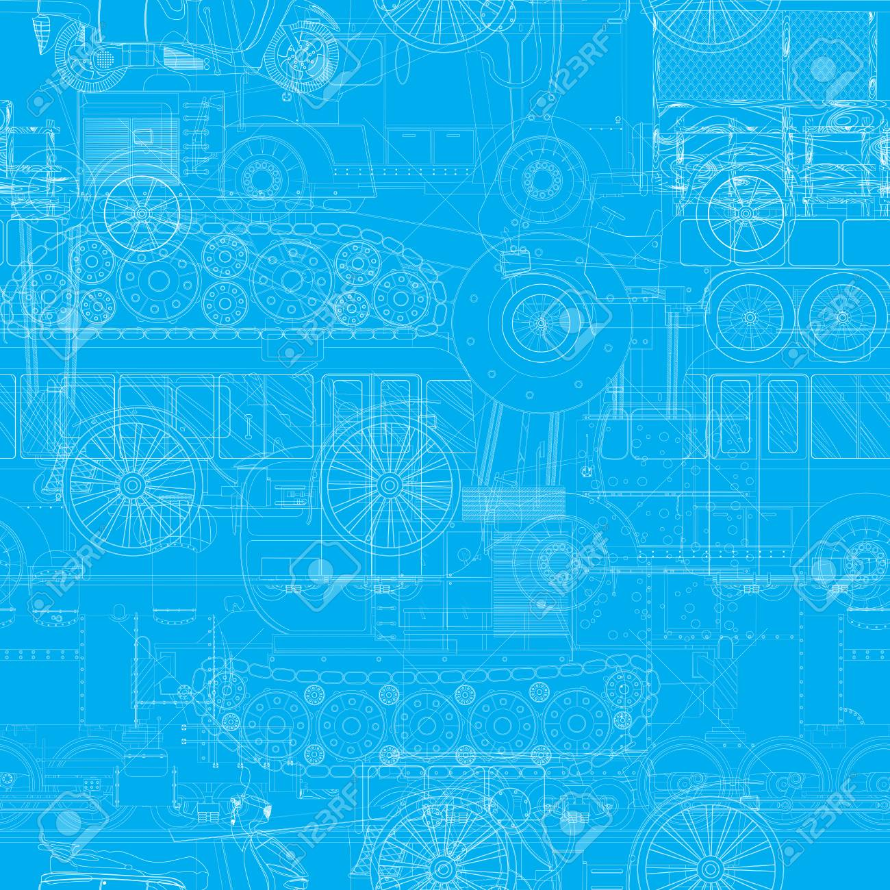 Seamless blueprint pattern with vehicles machines royalty free seamless blueprint pattern with vehicles machines stock vector 77995492 malvernweather Gallery