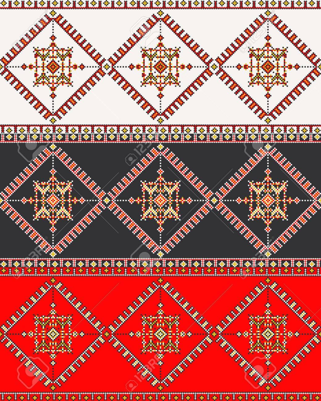 Diseño De Patrón Tradicional De Bordado Romano Tradicional ...