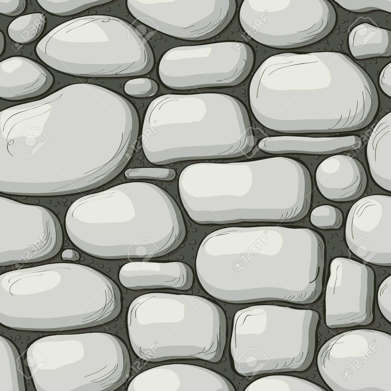Texture De Mur En Pierre De Style Dessin Animé Fond De Page Web