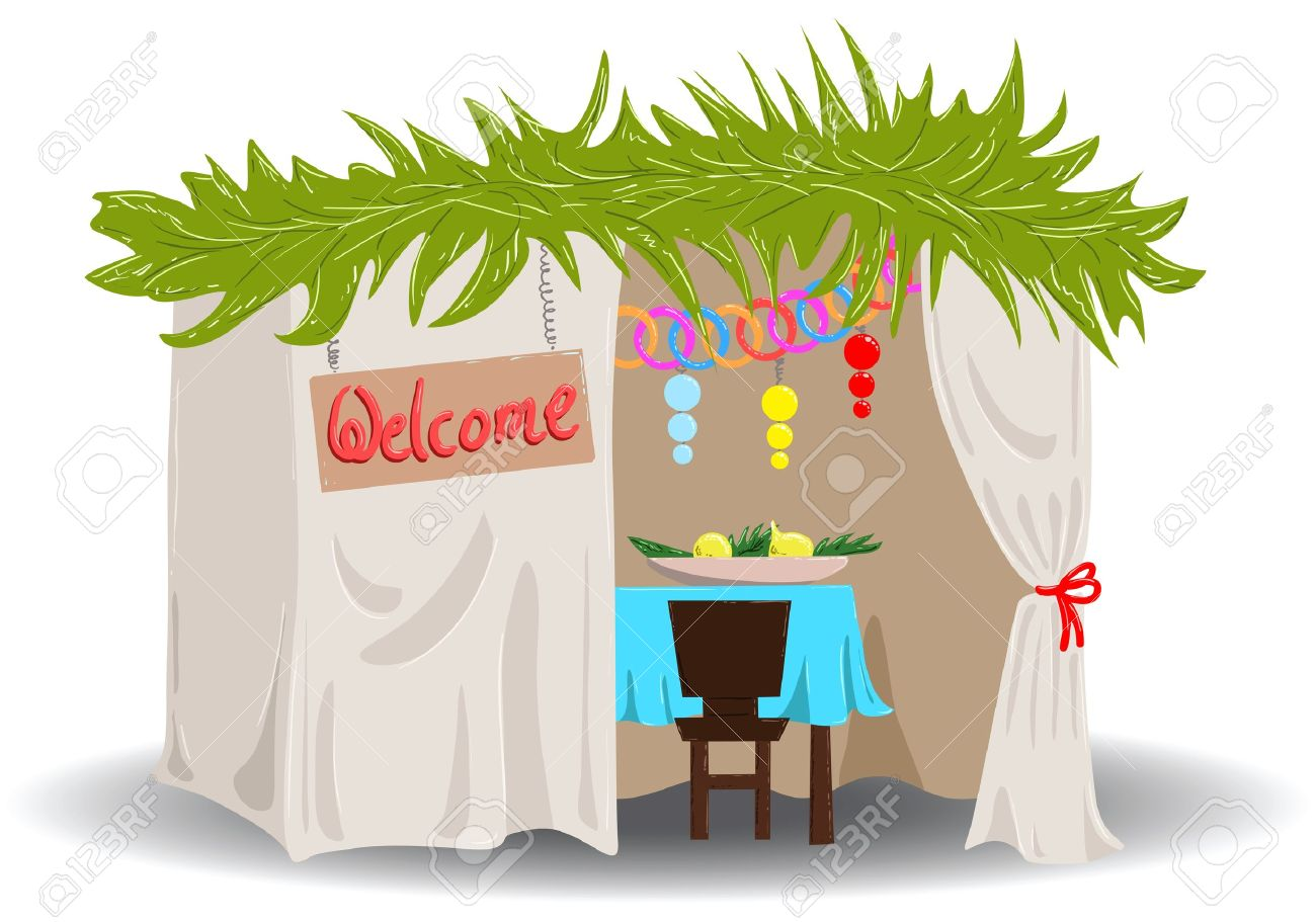A Vector illustration of a Sukkah decorated with ornaments for the Jewish Holiday Sukkot. Stock Vector - 10462538
