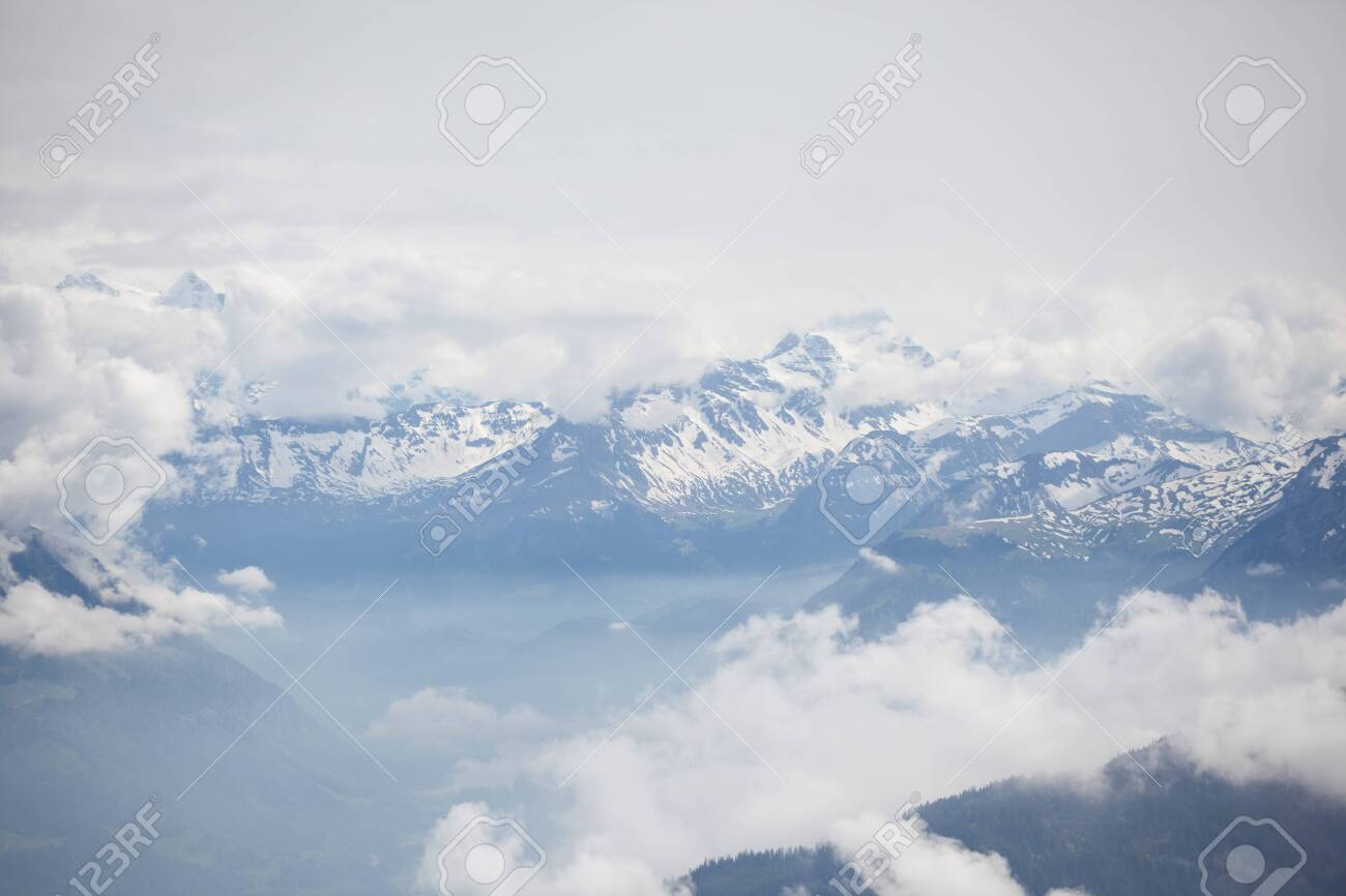 Pilatus is a famous travel mountain, Switzerland - 120790169
