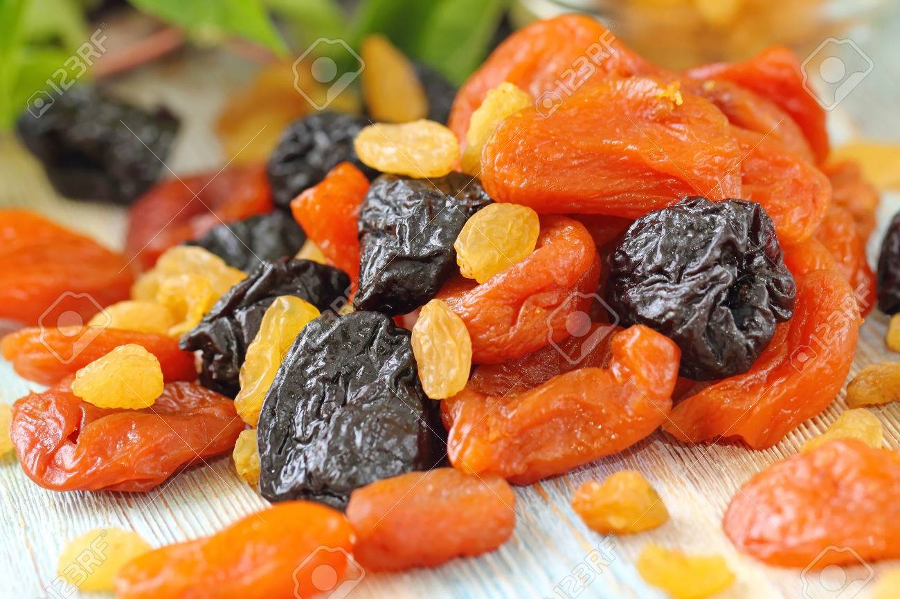 Assortment of dried fruit. Healthy food - 60835177