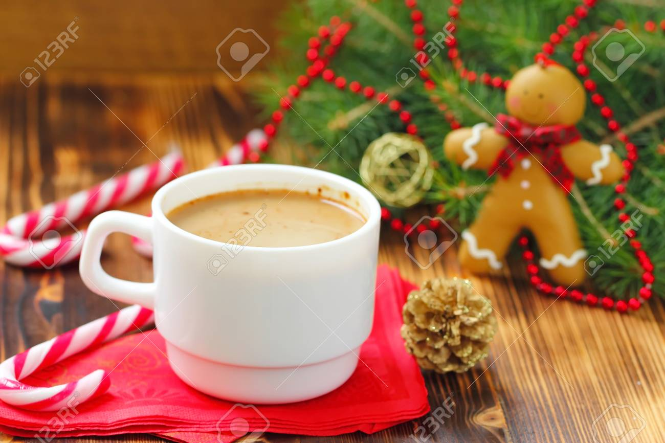 Coffee Christmas Tree.Christmas Card Coffee Cups Christmas Tree Assortment Of Sweetness