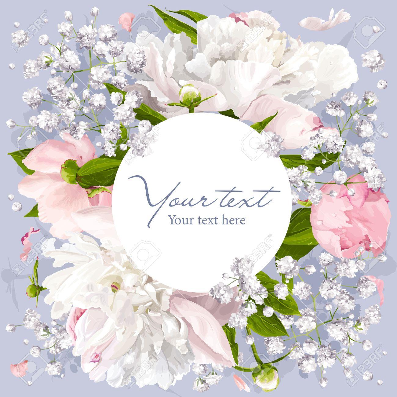 Invitation De Fleur Romantique Ou Carte De Voeux Pour Les Mariages