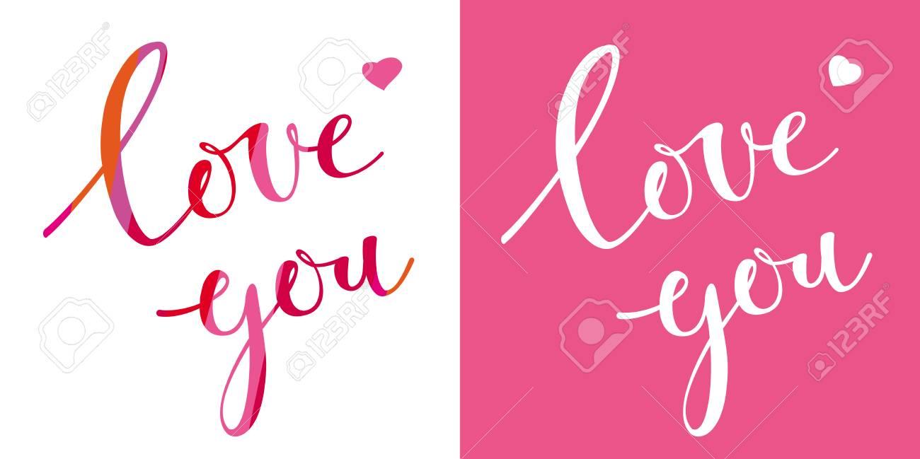 Te Amo Tarjeta De Vector Con Caligráfico Dibujado A Mano Diseño De Letras Para El Día De San Valentín Tipografía Creativa Para Tarjetas De